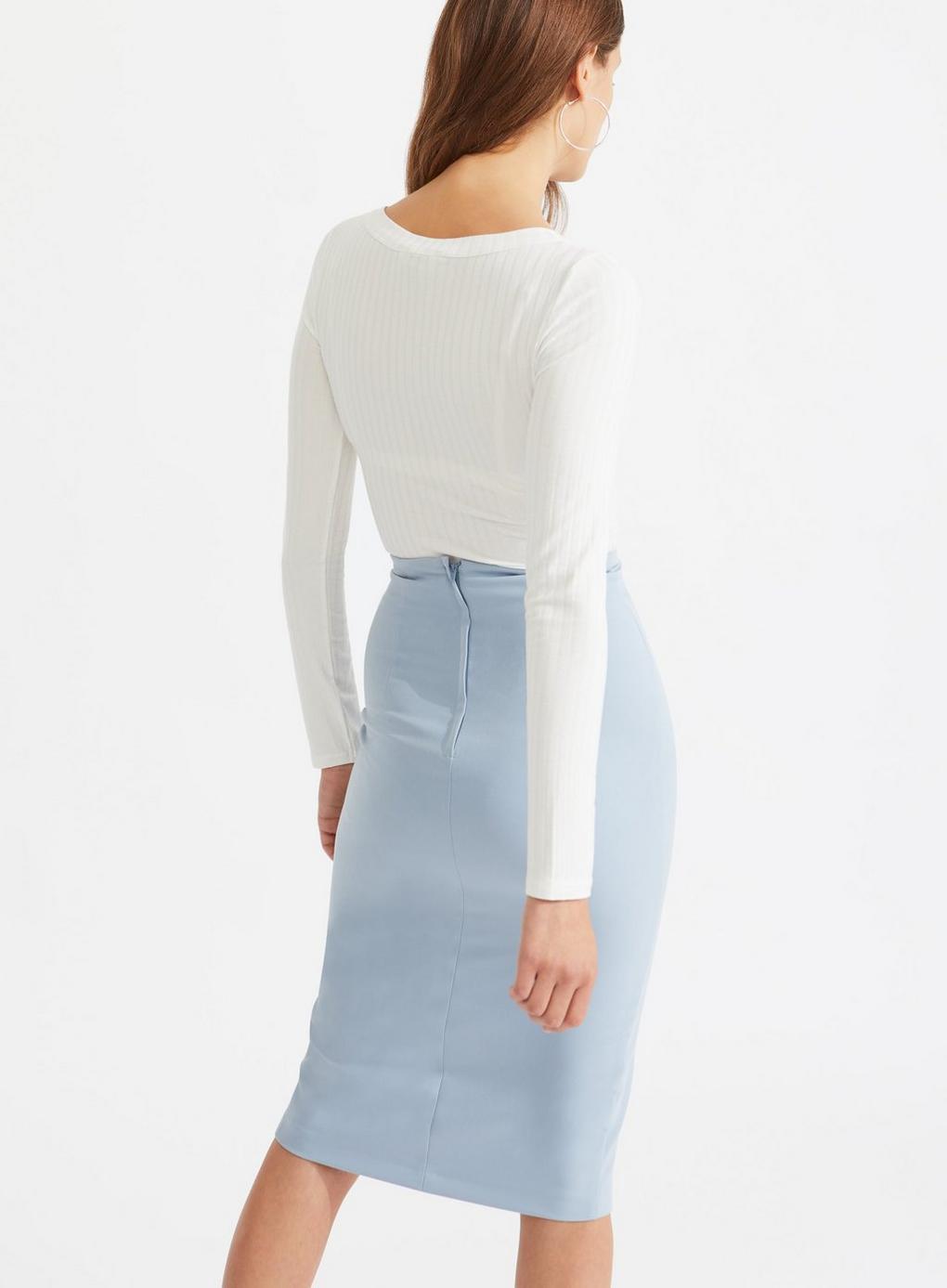 62194956e8029 Miss Selfridge - White Ivory Long Sleeve Horn Button Top - Lyst. View  fullscreen