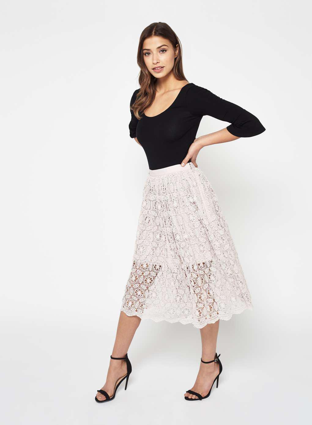 Lace flower pencil dress miss selfridge
