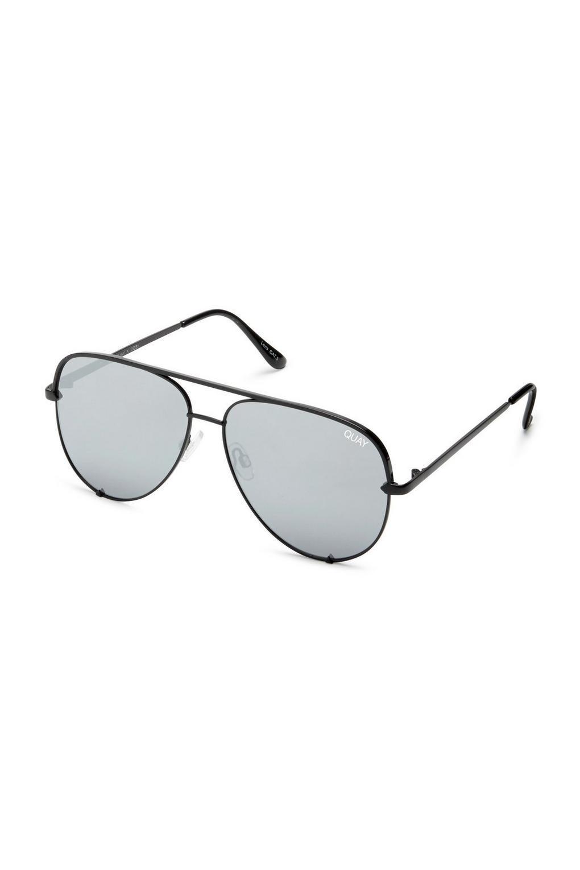 b1e4c92f1b3be ... Quay Australia High Key Silver Aviator Sunglasses - Lyst. View  fullscreen
