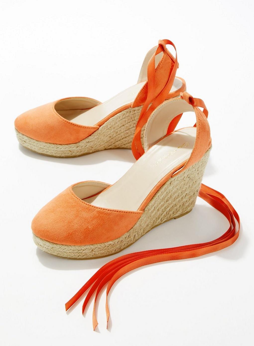 06db2c020 Miss Selfridge - Orange Wesley Rust Closed Toe Espadrilles - Lyst. View  fullscreen