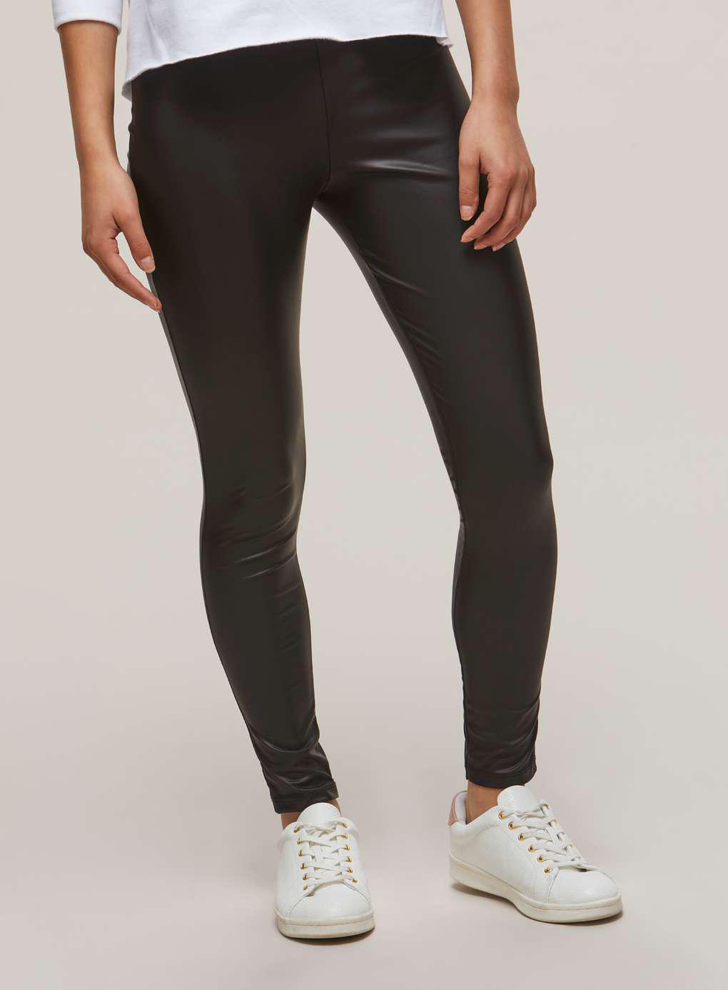 2bd03ff49968 Miss Selfridge Black Wet Look Leggings in Black - Lyst