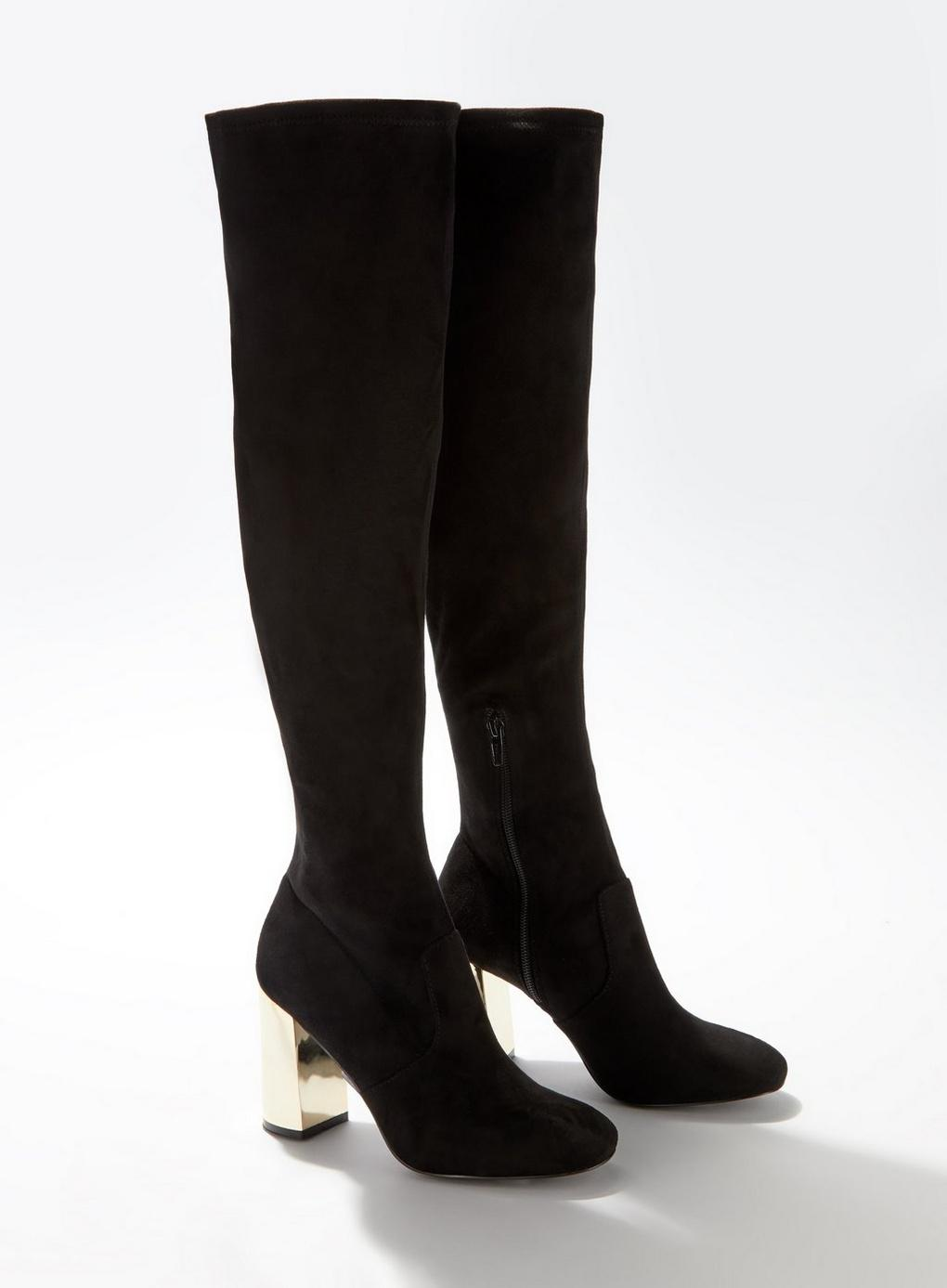 36ebb9949a7 Lyst - Miss Selfridge Olivia Black Over The Knee Boots in Black