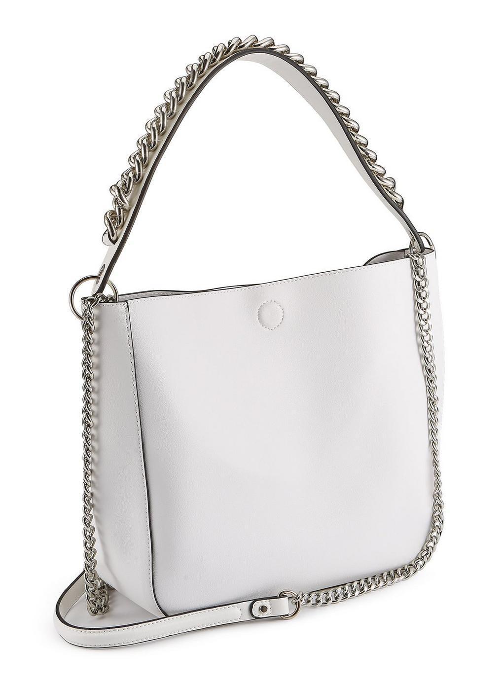 Miss Selfridge Women S White Chain Detail Shoulder Bag