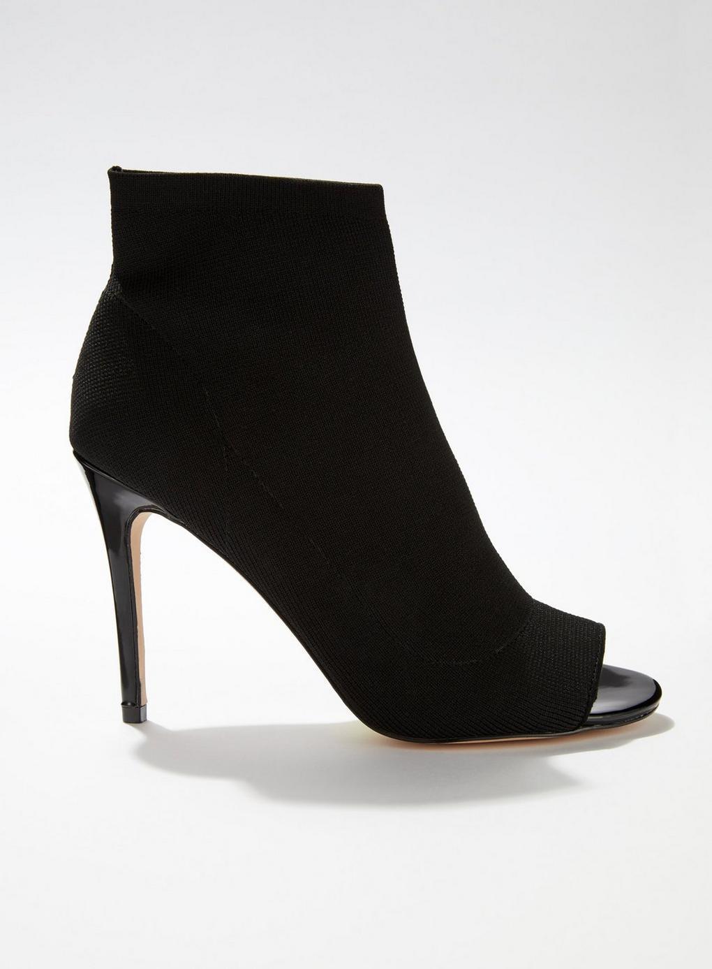 a634c71e6f746 Lyst - Miss Selfridge Apollo Black Peep Toe Stiletto Boots in Black
