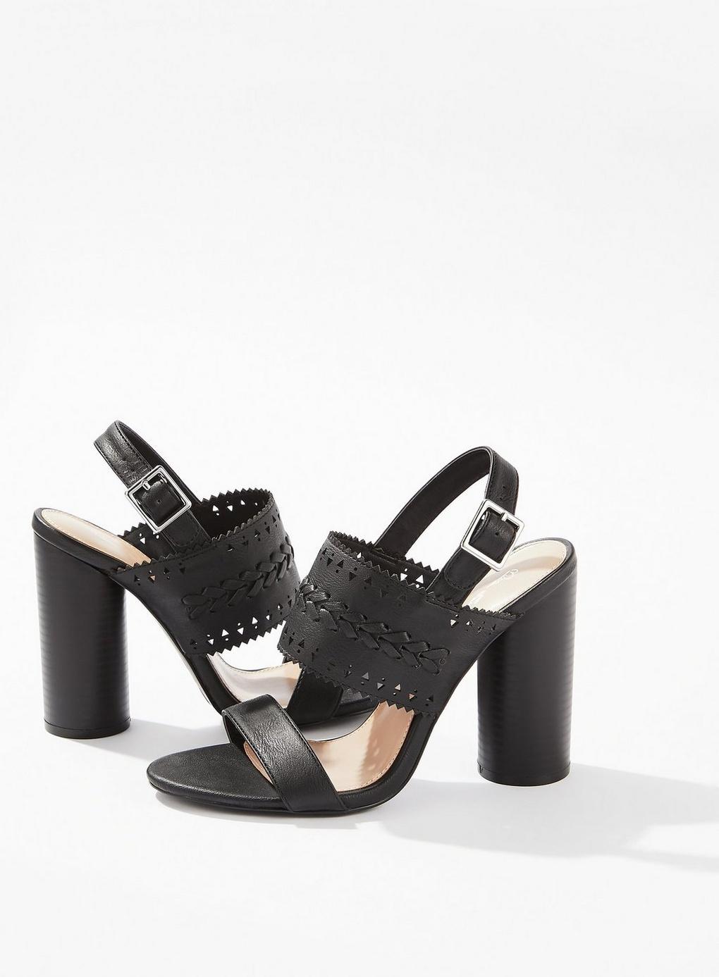d80ad8e7031b Miss Selfridge - Black September Laser Cut Heel Sandals - Lyst. View  fullscreen