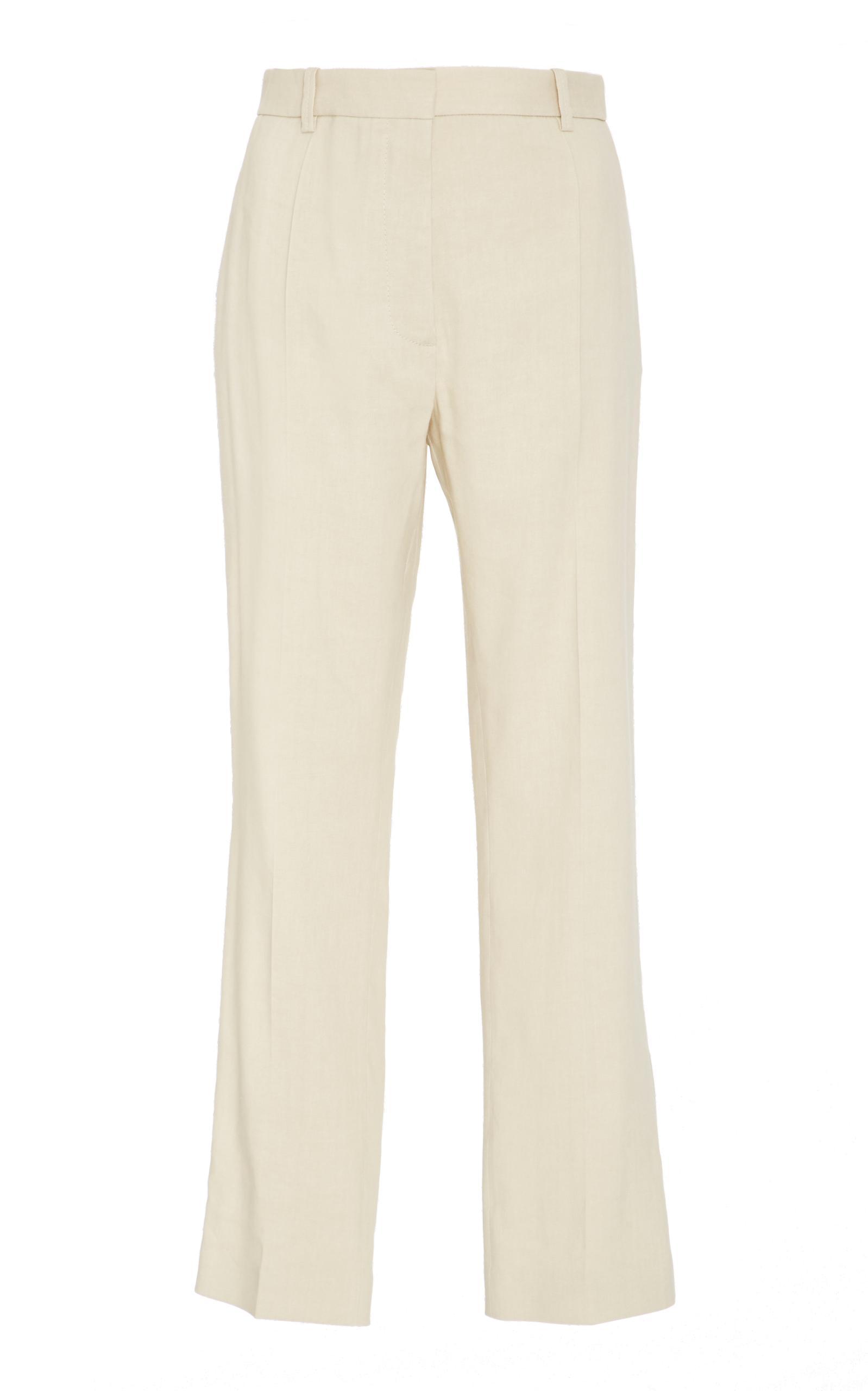 Joseph Woman Ferguson Linen-twill Wide-leg Pants Ivory Size 42 Joseph H26Q2Nbd8