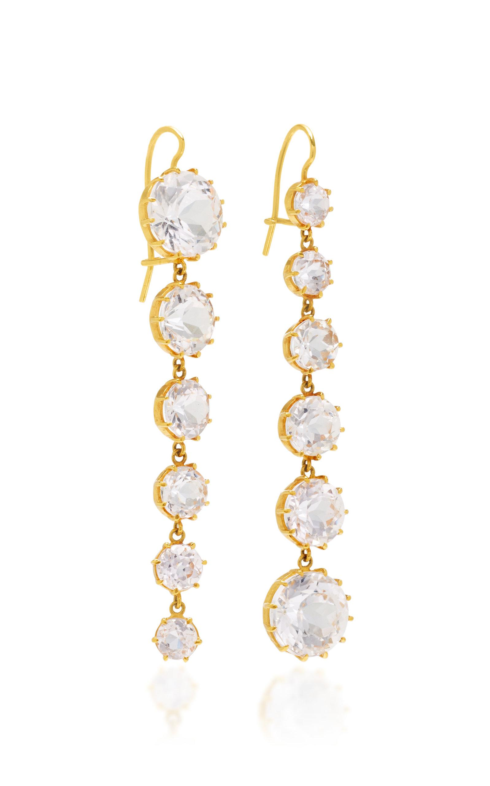 kunzite renee lewis in earrings jewelry gold white pink lyst gallery