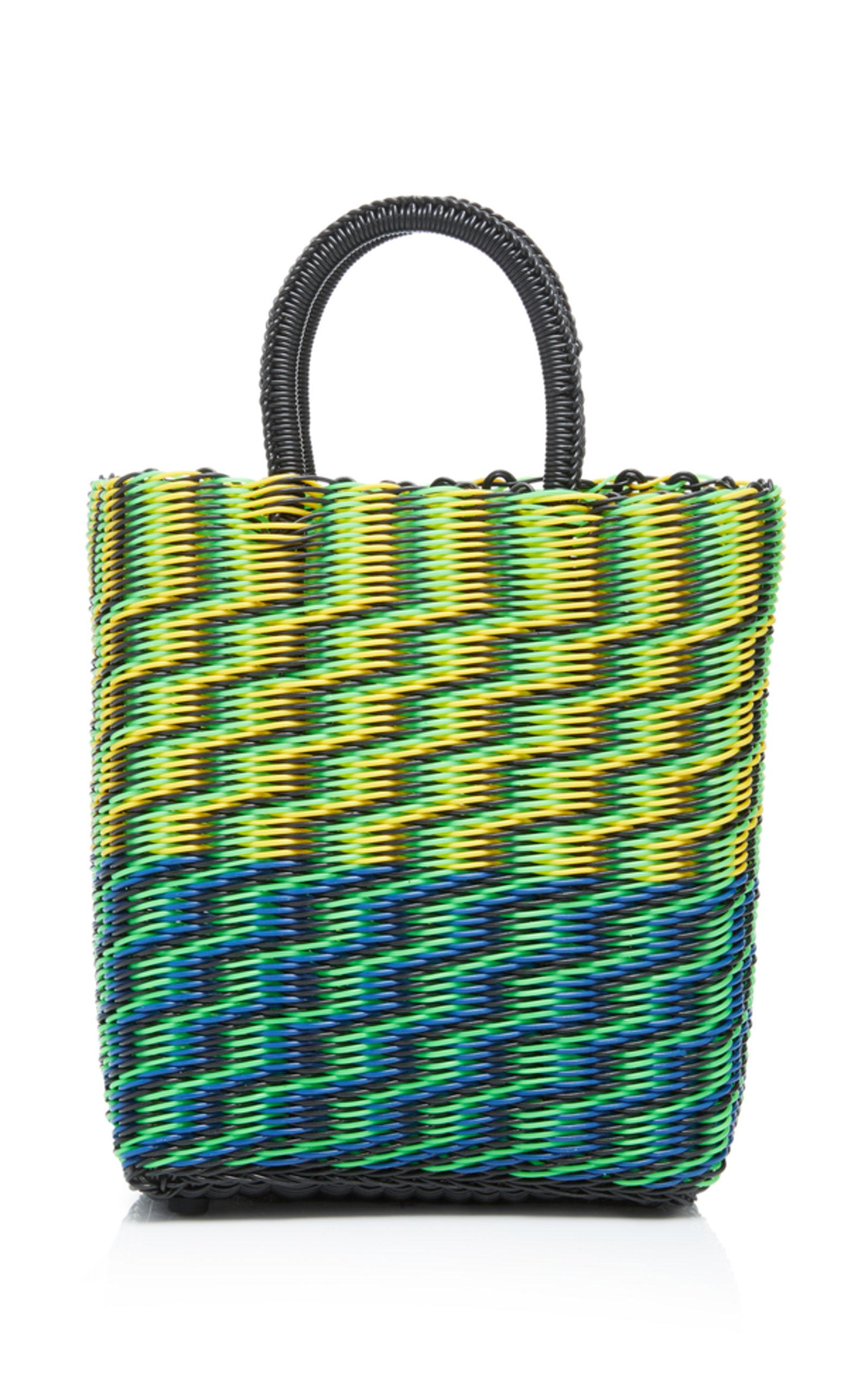 Truss Small Tube Weave Tote With Detachable Beaded Fob Ro0qJ3KmEy