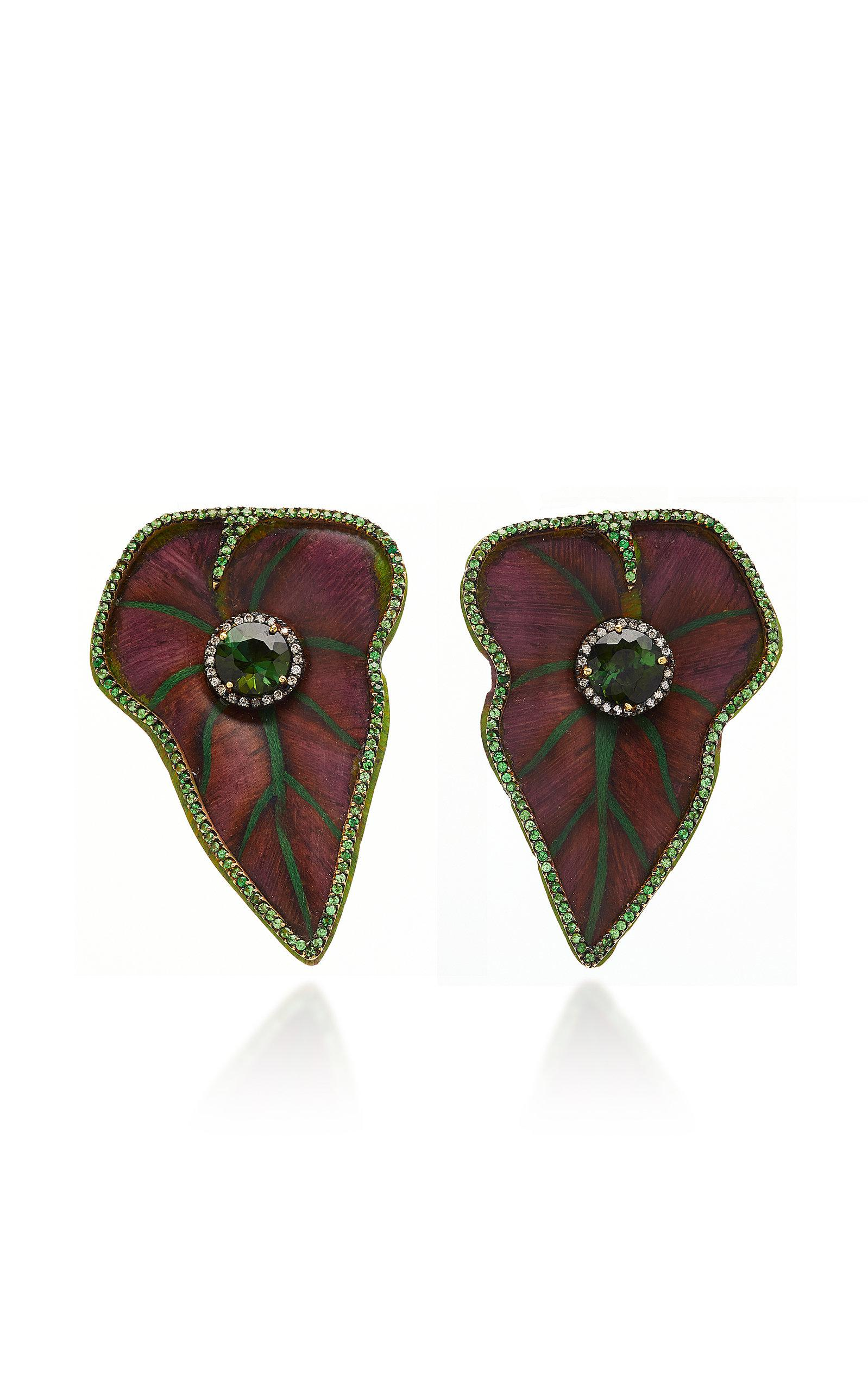 Sculptural Botanical Marquetry Butterfly Earrings Silvia Furmanovich jj0i61m