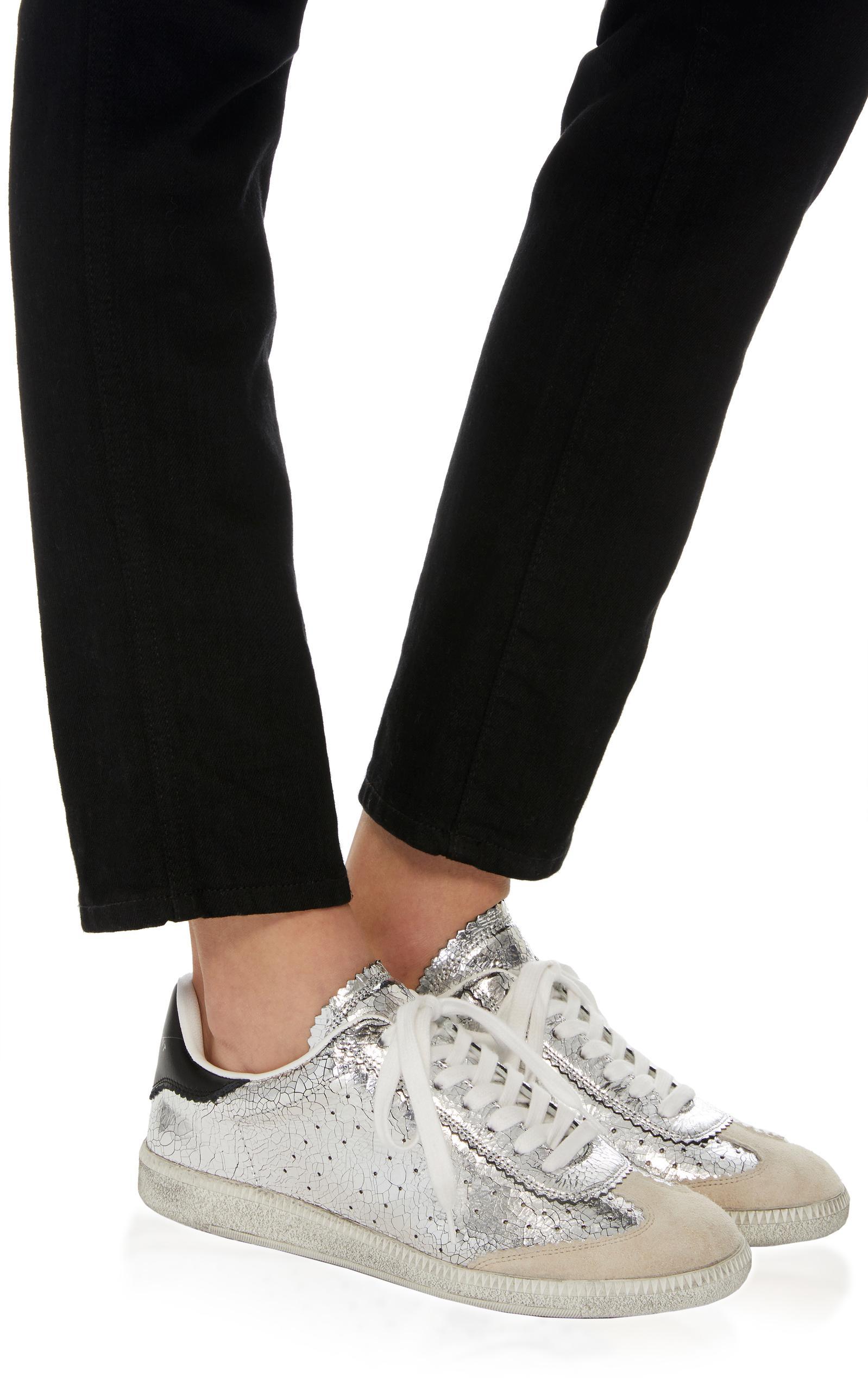 0e91d23dd3 Isabel Marant Bryce Metallic Leather Sneakers in Metallic - Lyst