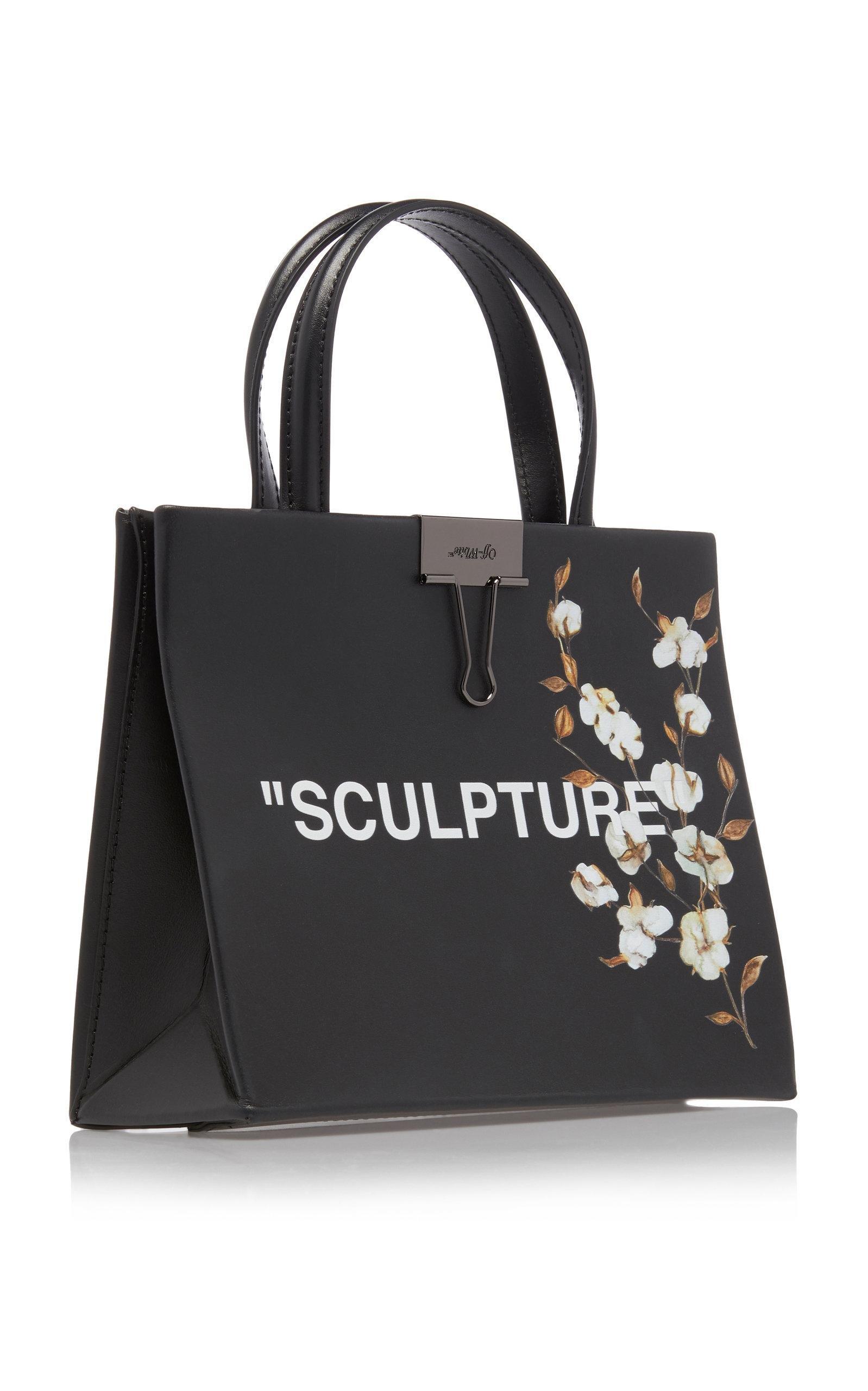 51549bb23 Off-White c/o Virgil Abloh Flower Box Faux Leather Mini Bag in Black ...