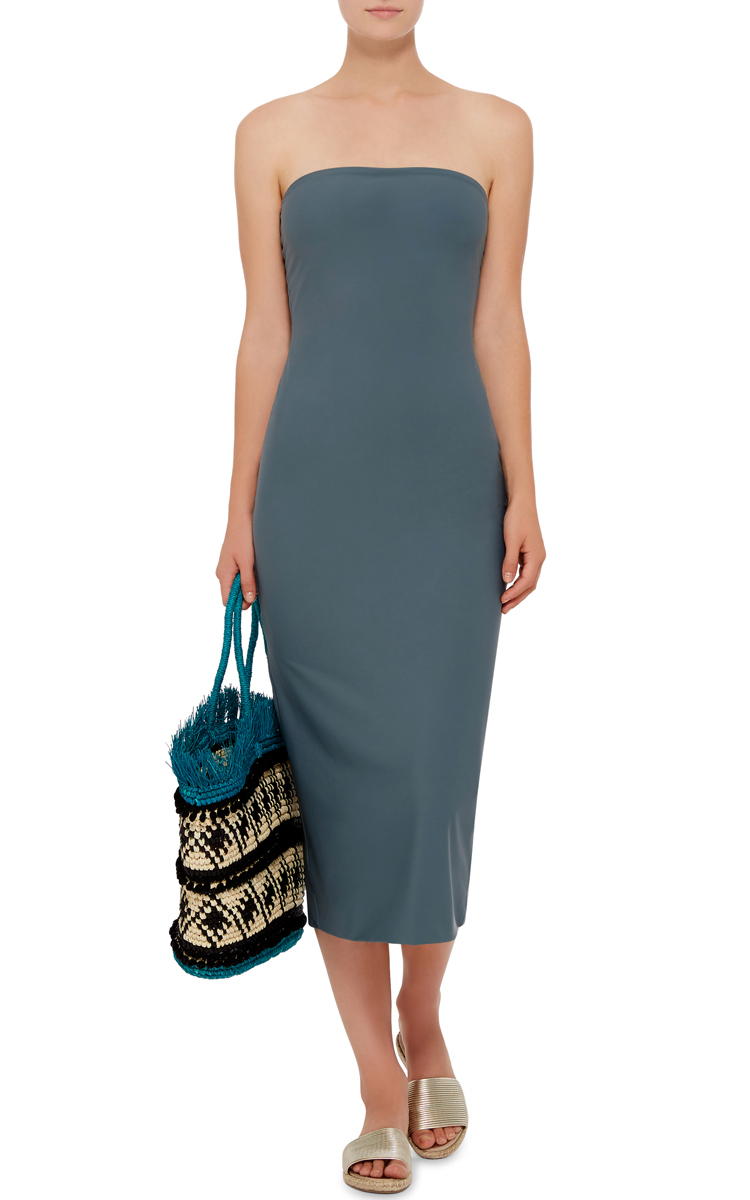 Lyst - Flagpole Swim Strapless Walter Fitted Midi Dress in ...