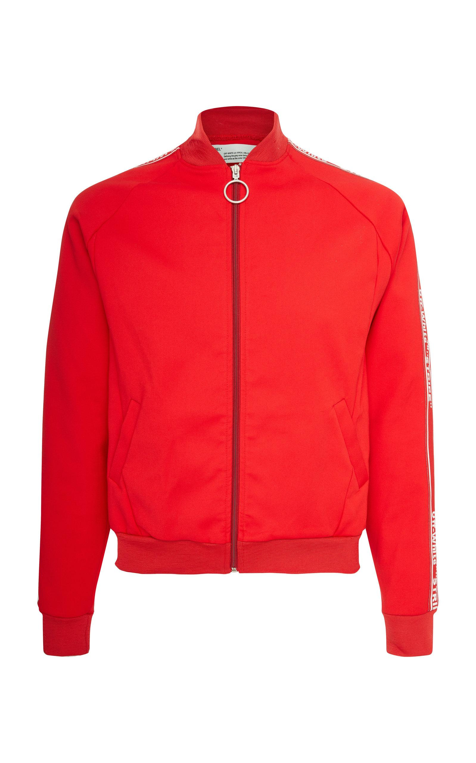 d4db7c545043 Off-White c o Virgil Abloh Striped Cotton-jersey Track Jacket in Red ...