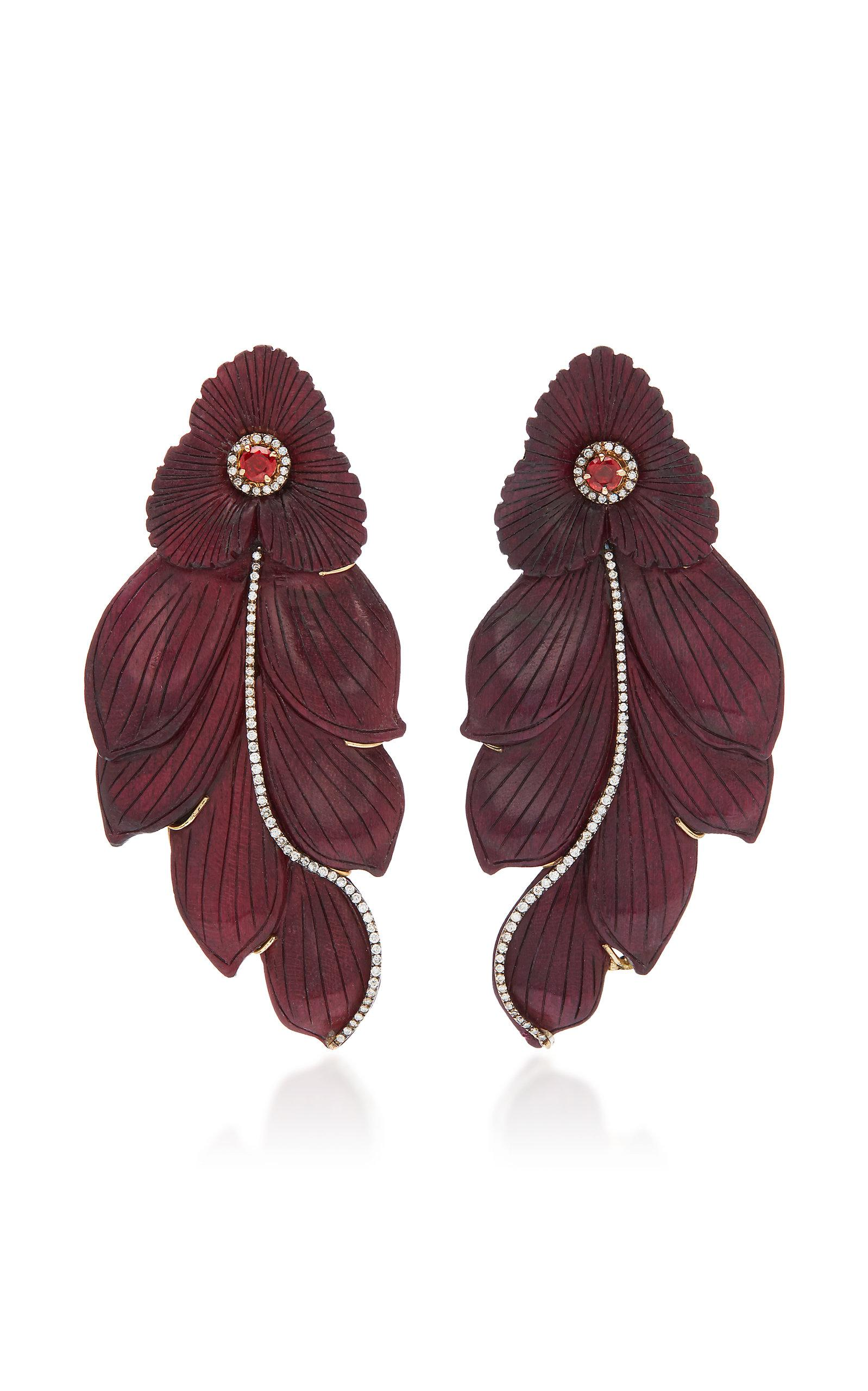 MO Exclusive: Marquetry Water Lily Earrings Silvia Furmanovich 8Et28Em9