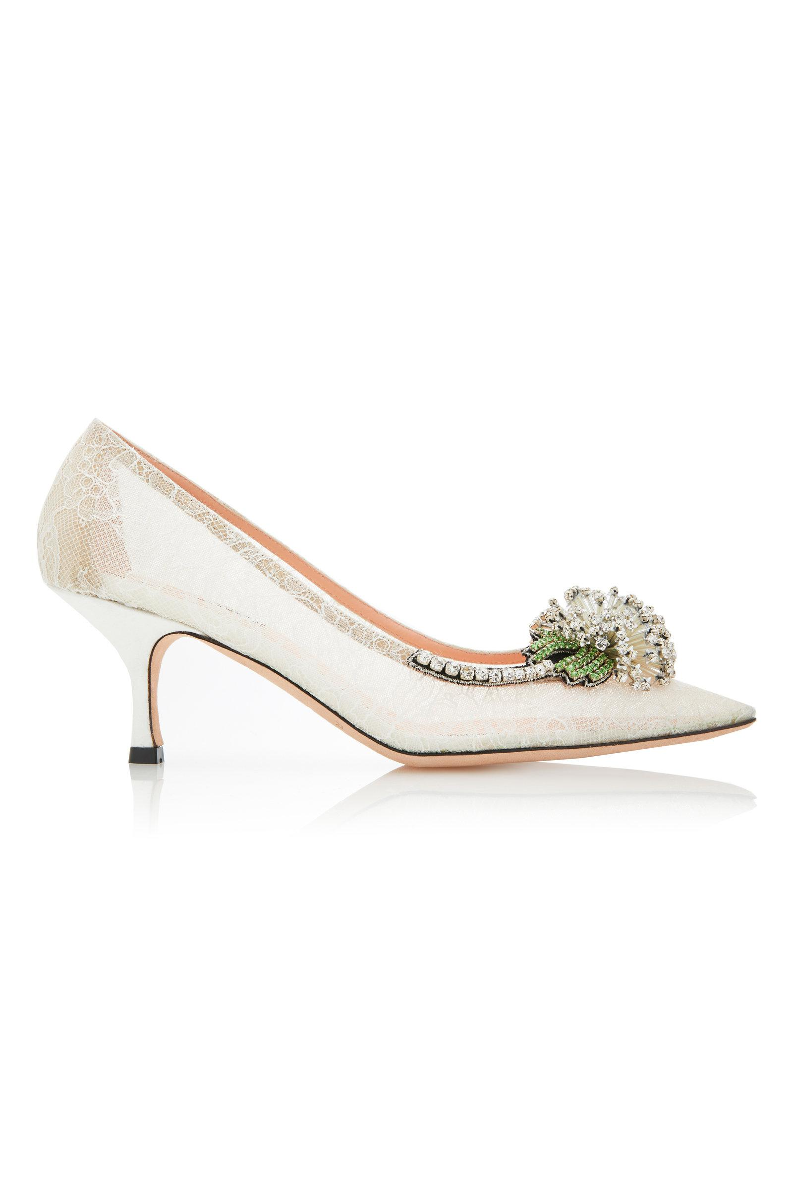 Clearance Visit New Footaction Cheap Price Lace Embellished Pumps Rochas Sale Discount FAOQmP
