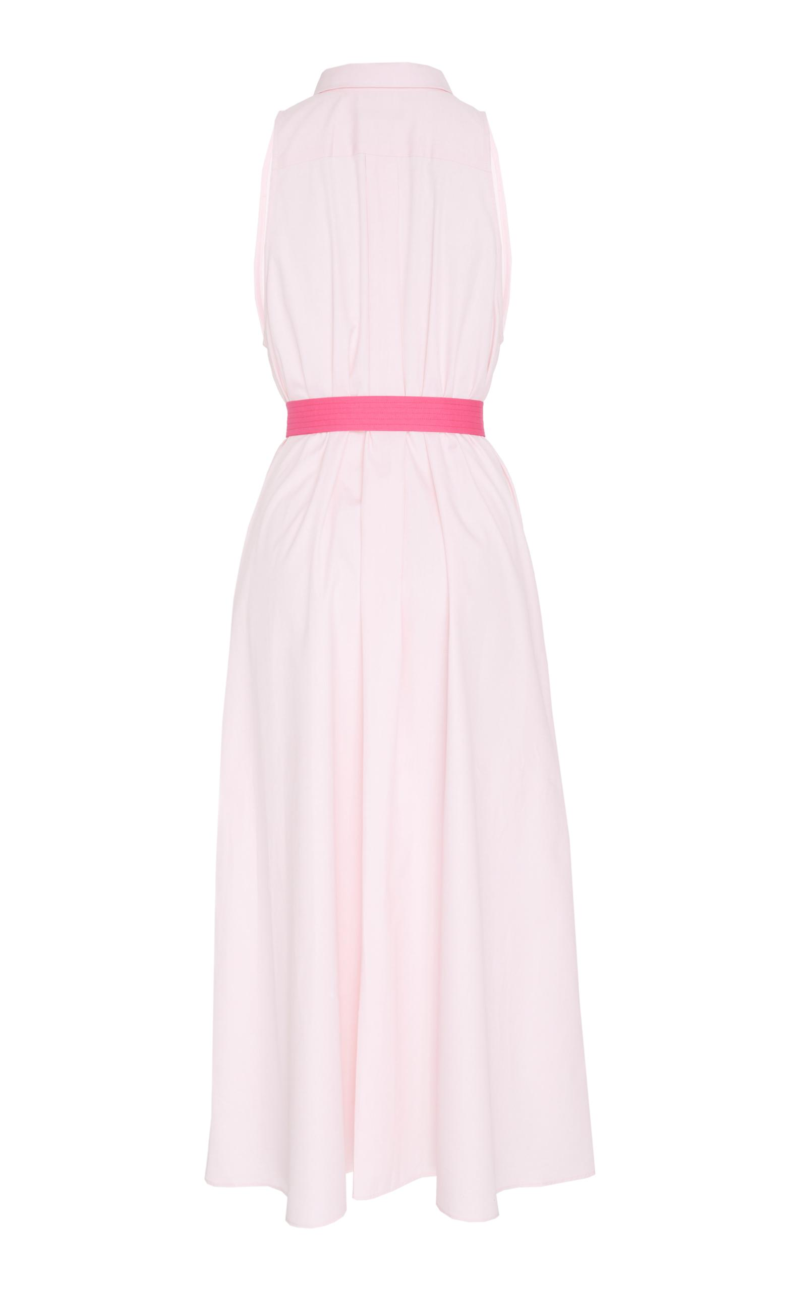 726d3991376319 Lyst - MDS Stripes Sleeveless Button Down Shirtdress in Pink