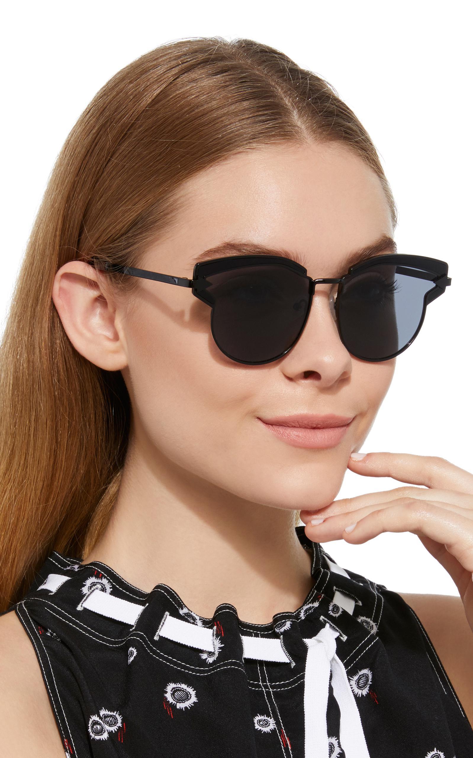 431e15f8953e Lyst - Karen Walker Superstar Felipe Cat-eye Acetate Sunglasses in Black