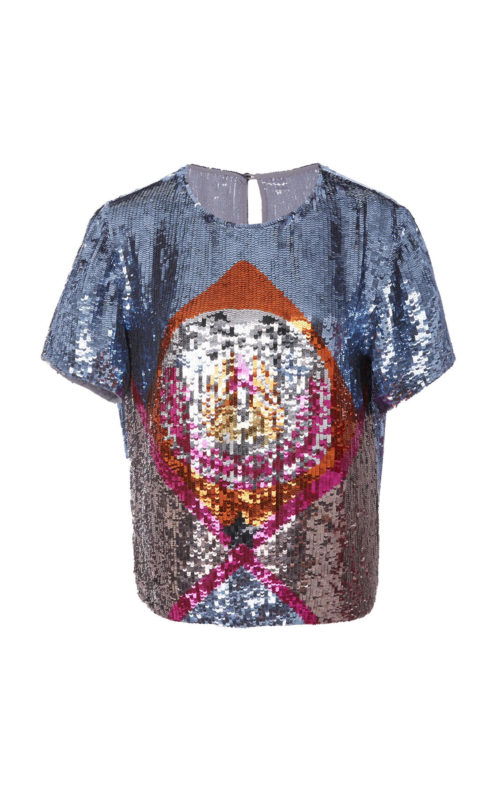 Stockist Online Sara Sequin T Shirt Temperley London Sale For Sale Cheap Sale The Cheapest Clearance Limited Edition zba92A0oS2