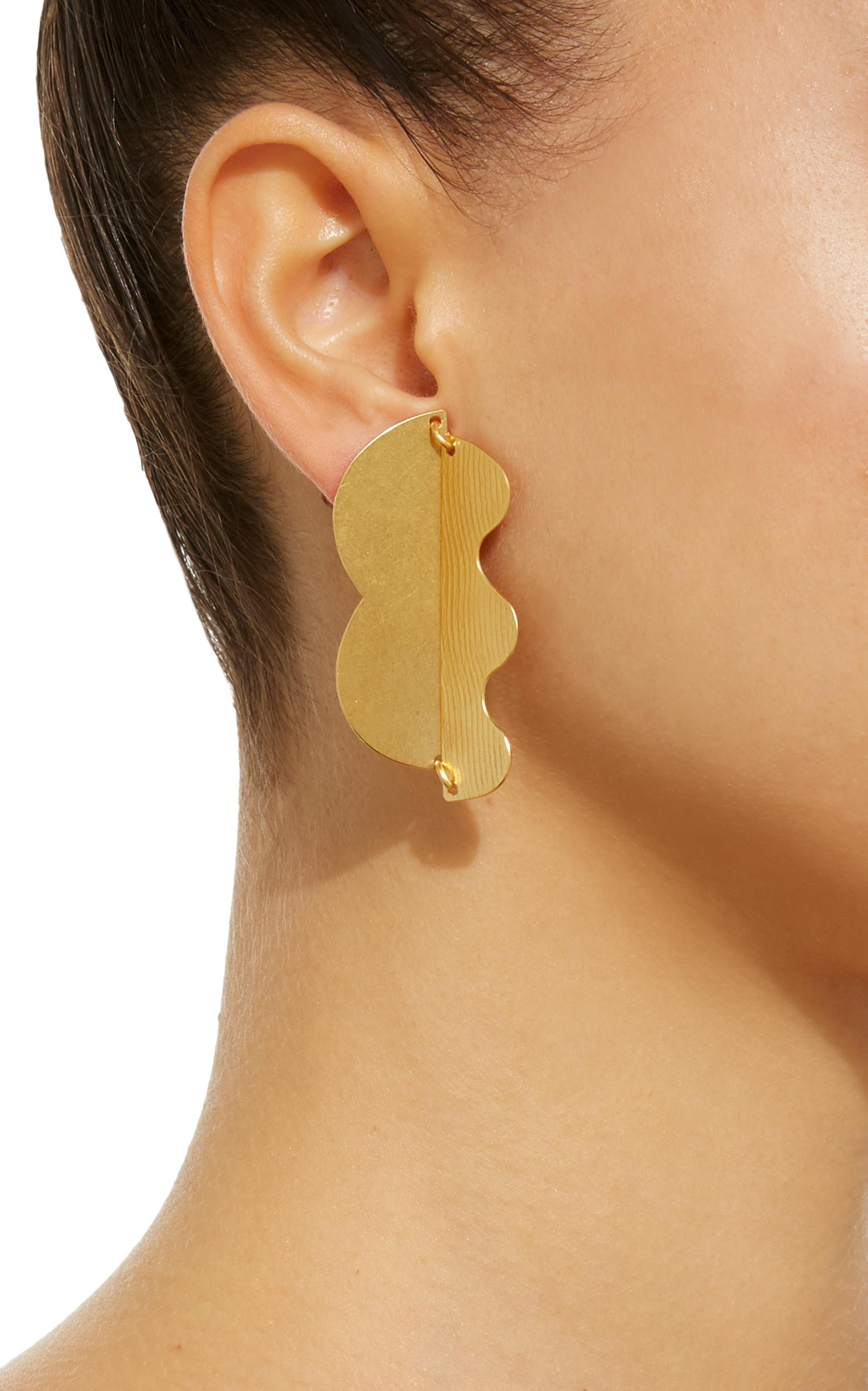 Matisse Gold-Tone Brass Earrings Annie Costello Brown
