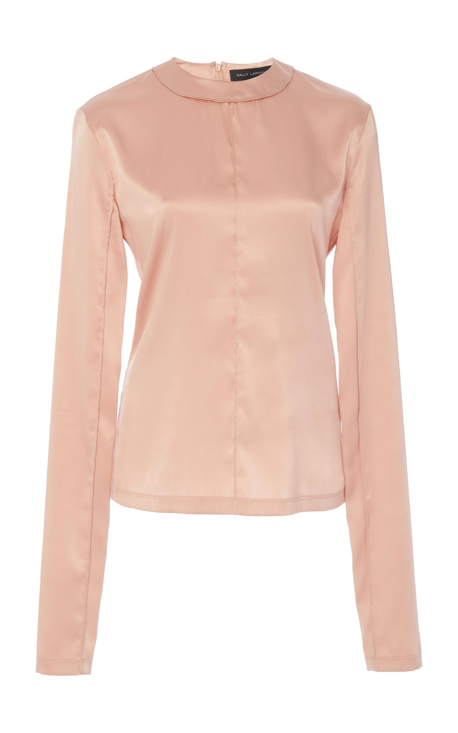 Metallic Stretch Silk Ski Top Sally Lapointe Sale Outlet Locations Free Shipping For Cheap FnzZXozyA0