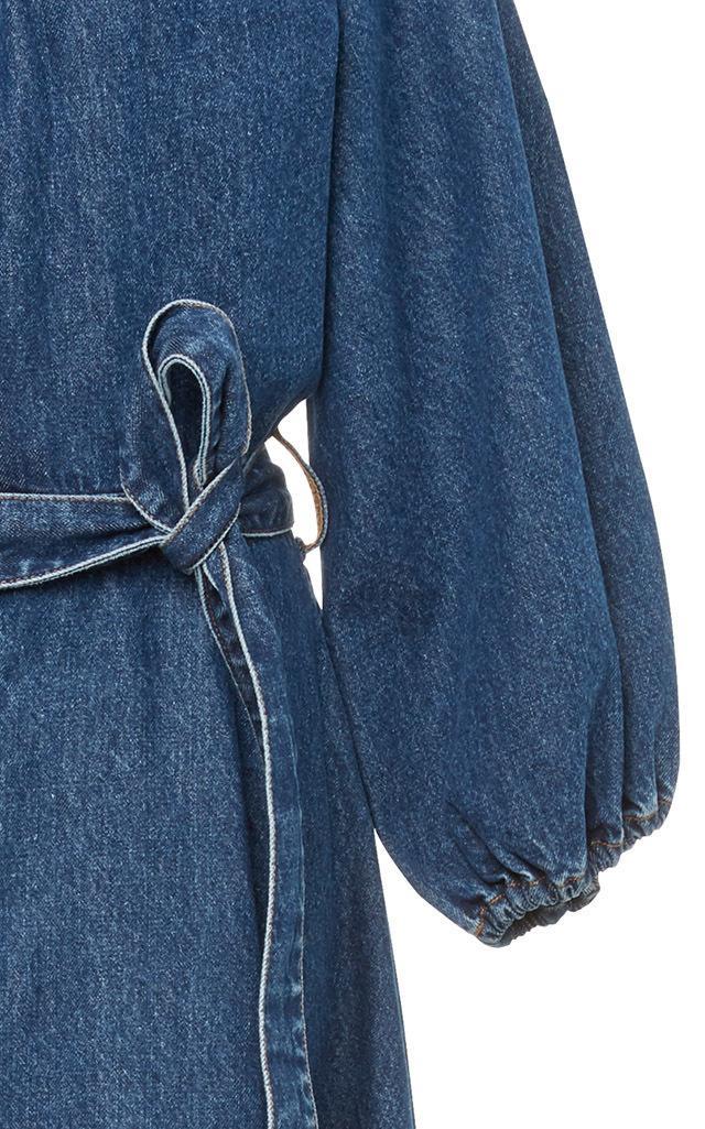 501ce1ec7a9 Lyst - Co. Denim Tie Midi Dress in Blue