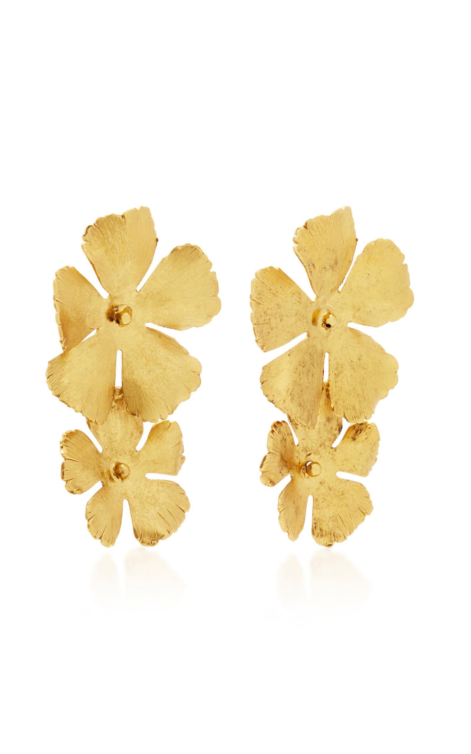 Jennifer Behr Chloe Statement Flower Earrings LGY8J