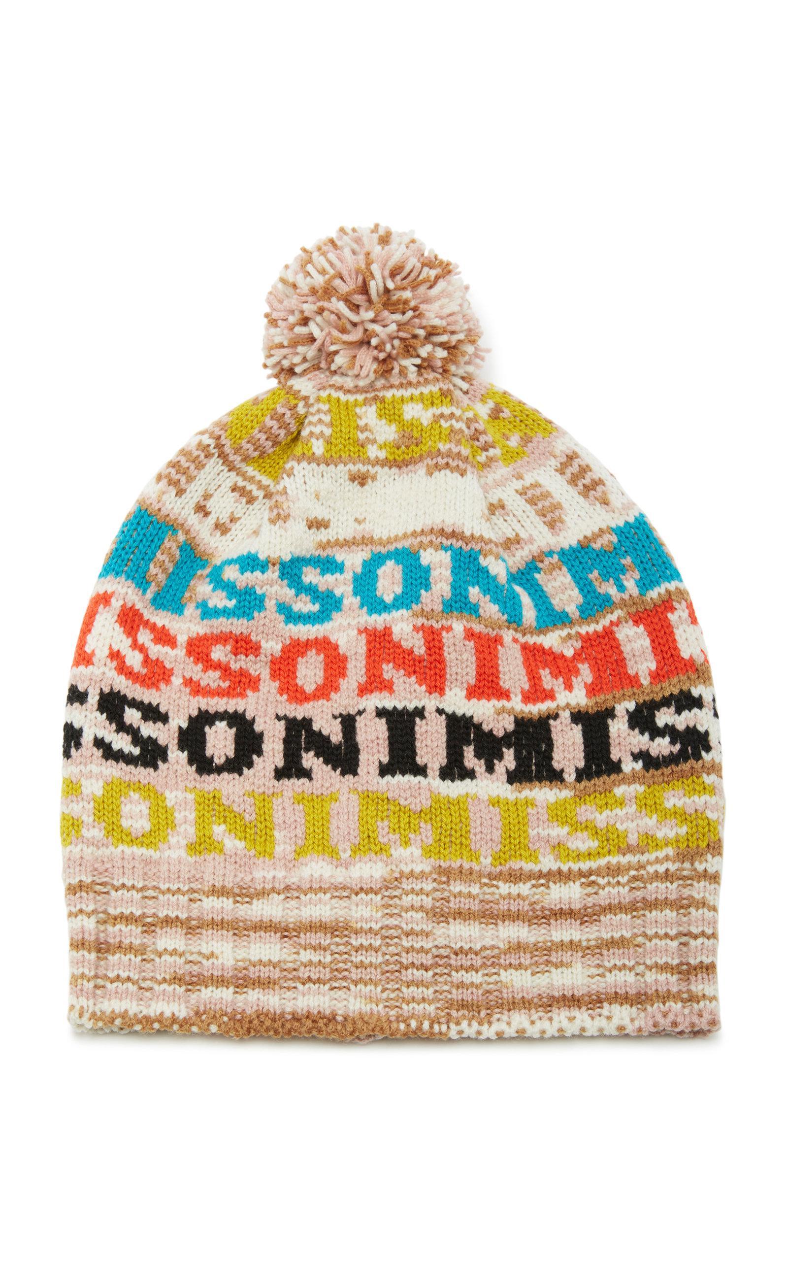 7b81a9a1591 Lyst - Missoni Pom Pom-embellished Intarsia Wool-blend Beanie in Brown