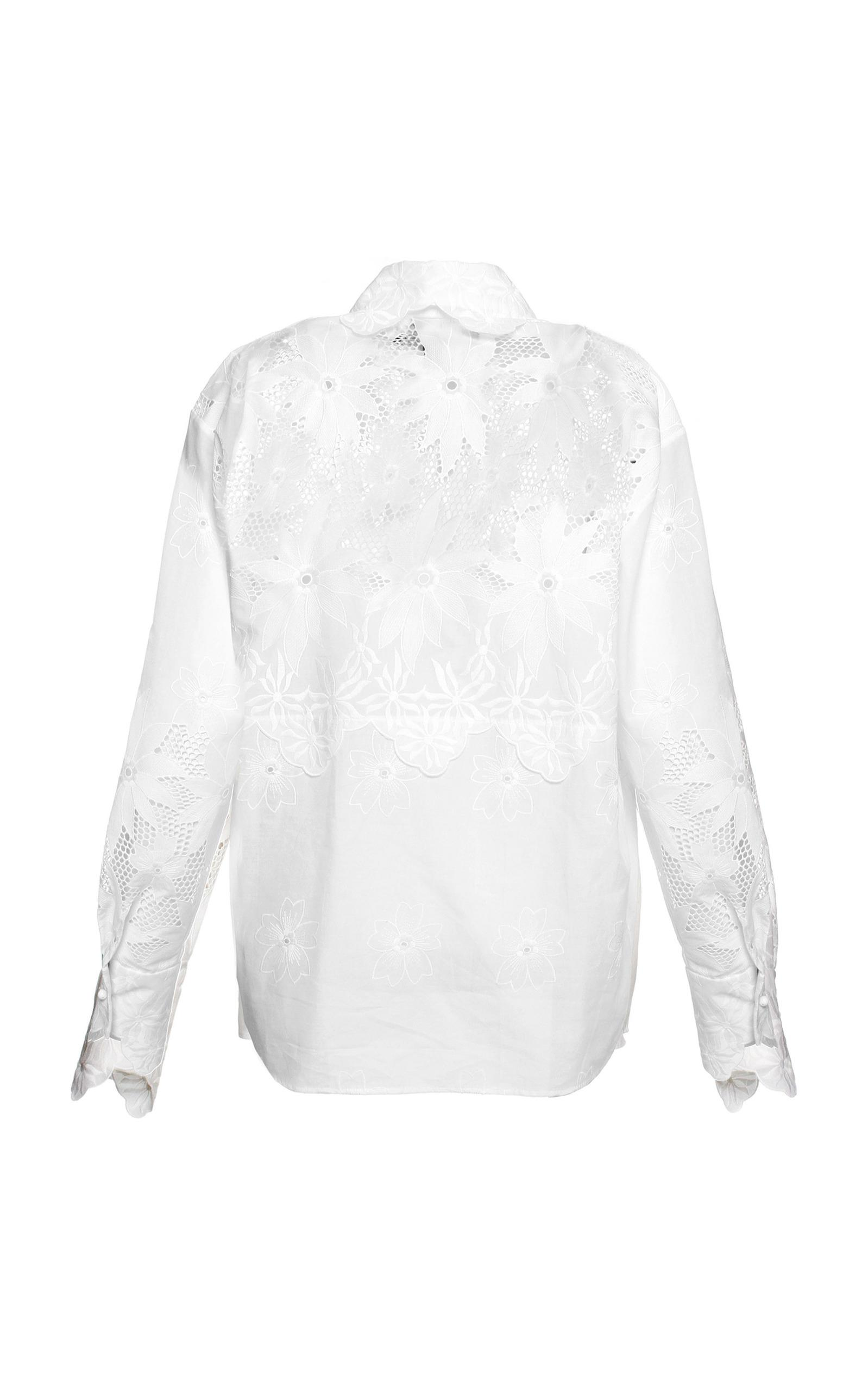 a158168014957 Lyst - ANOUKI White Lace Shirt in White