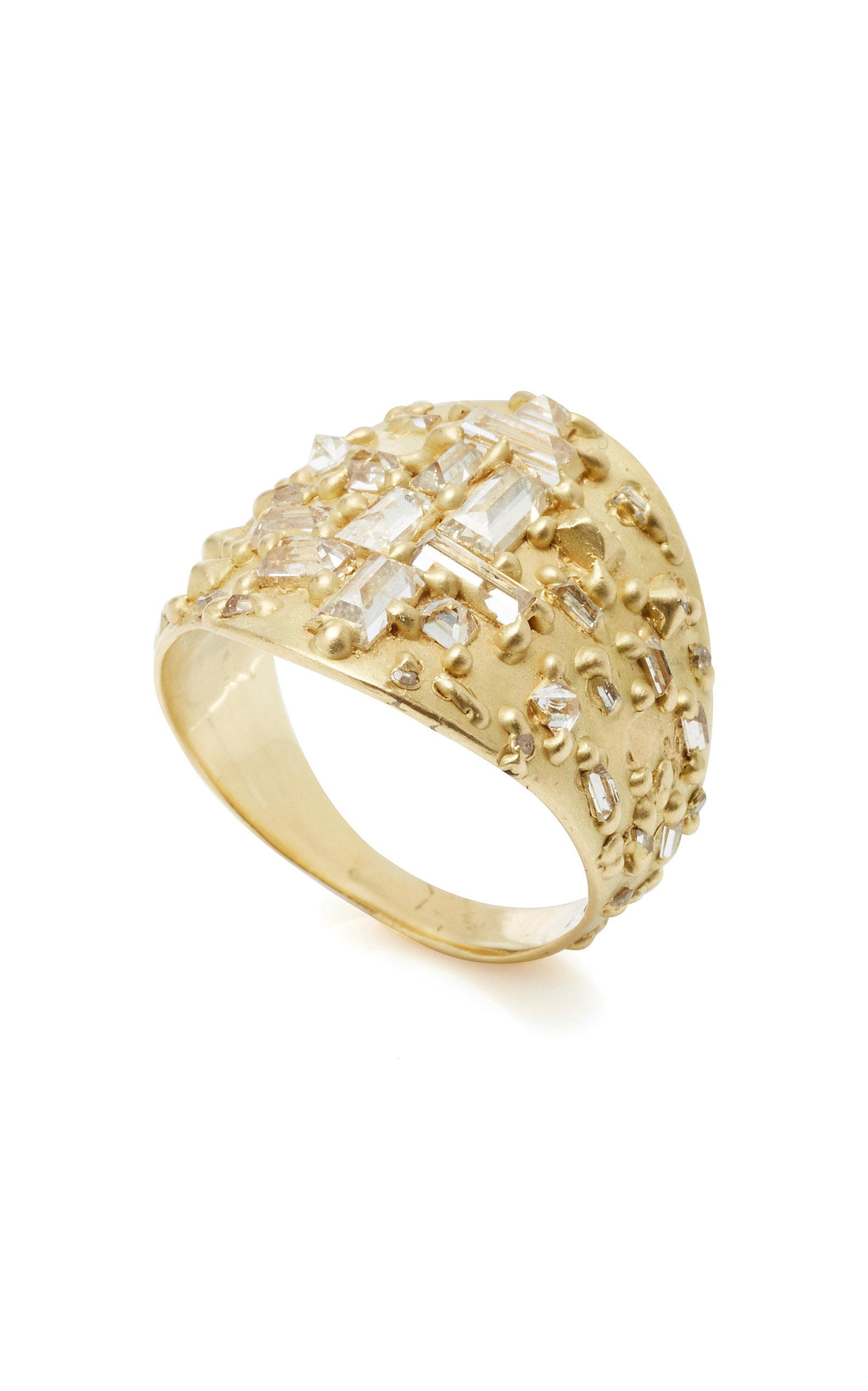 kind in shield jewelry ring one gallery a polly wales lyst of gold mondrian diamond