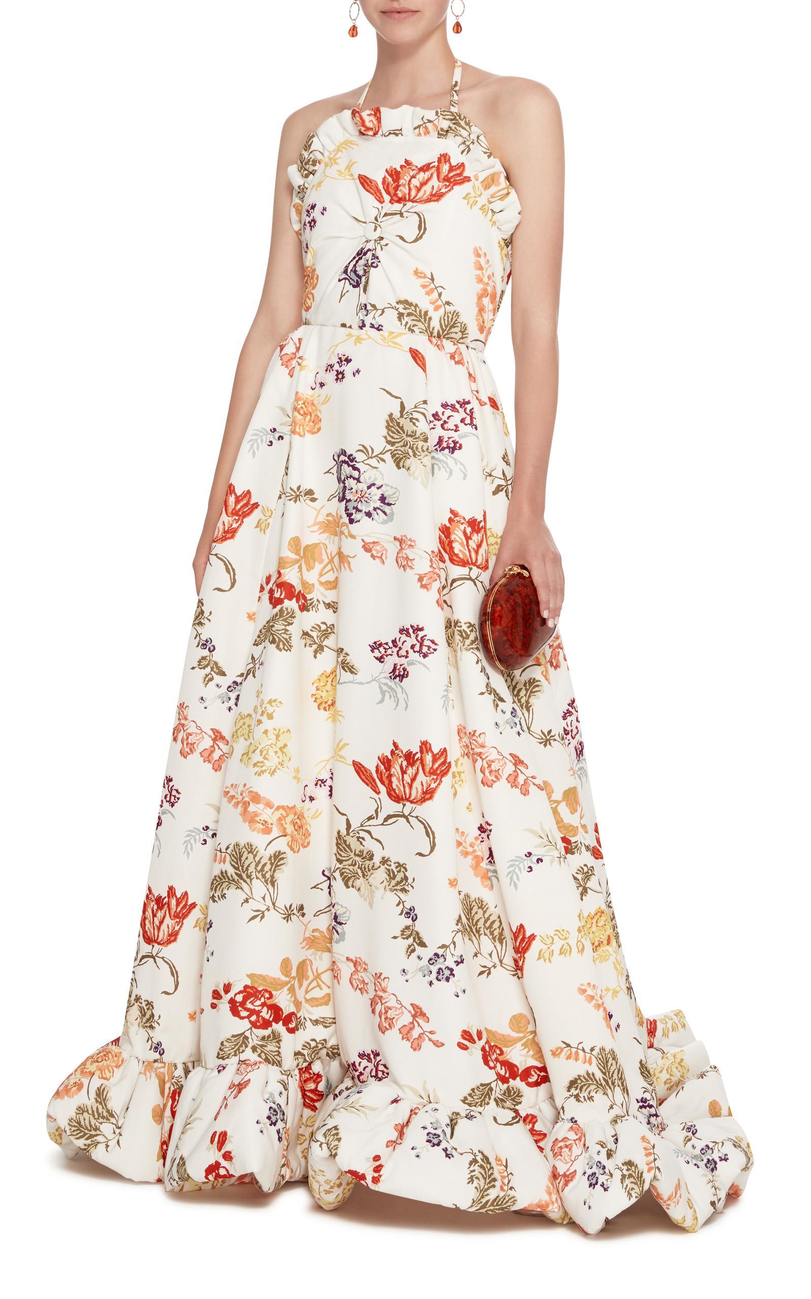 Floral Strapless Empire Waist Gown Rosie Assoulin 4TFn7h6p