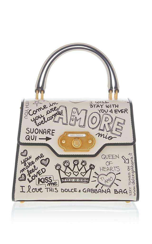 Dolce   Gabbana Amore Top Handle Bag in White - Save 50% - Lyst 3623d474e3b90