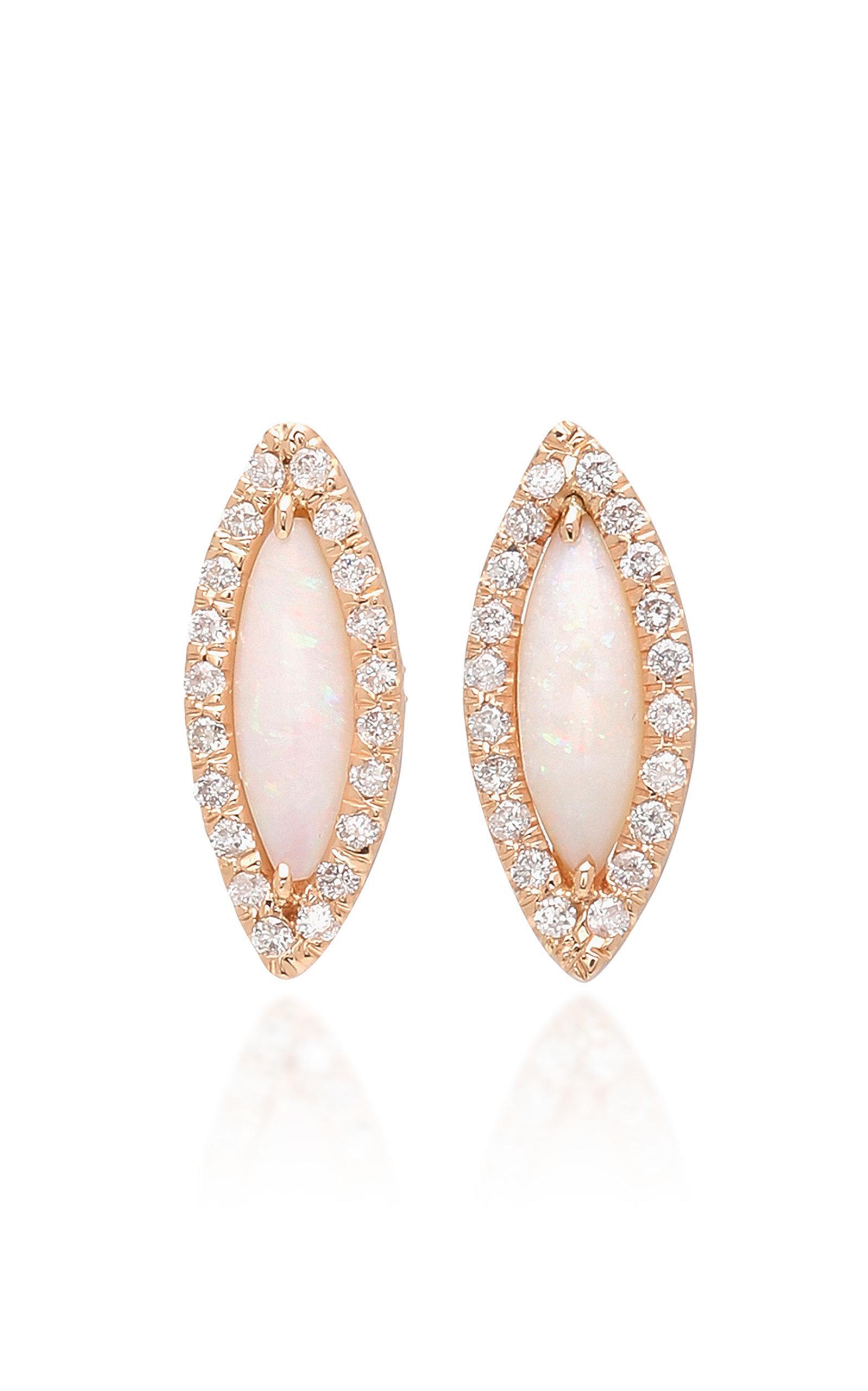 18k Rose Gold Diamond Stud Earrings Kimberly McDonald V4DsbjgAj