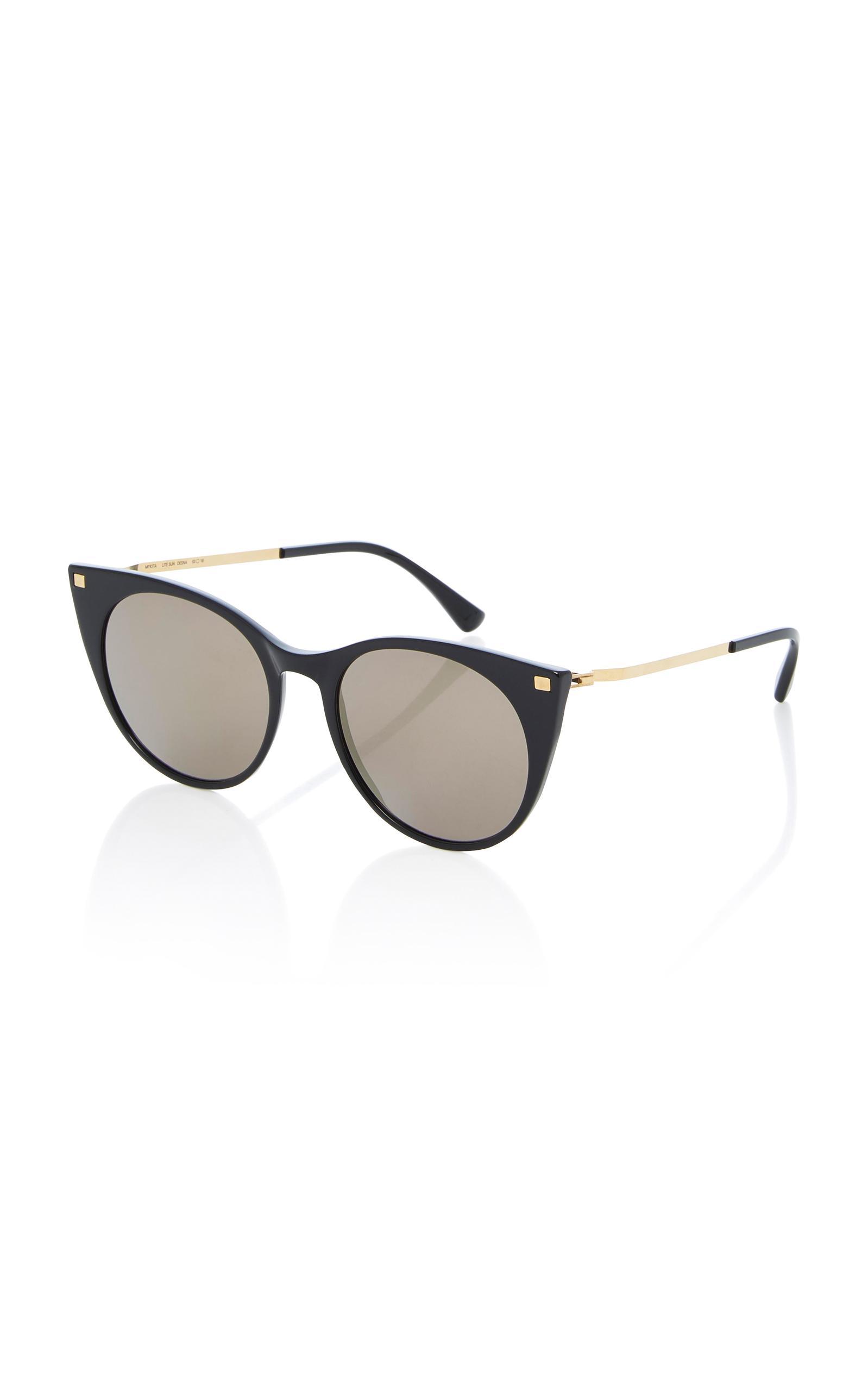 Desna Gold-Tone and Acetate Round-Frame Sunglasses Mykita yoL1NR3xH