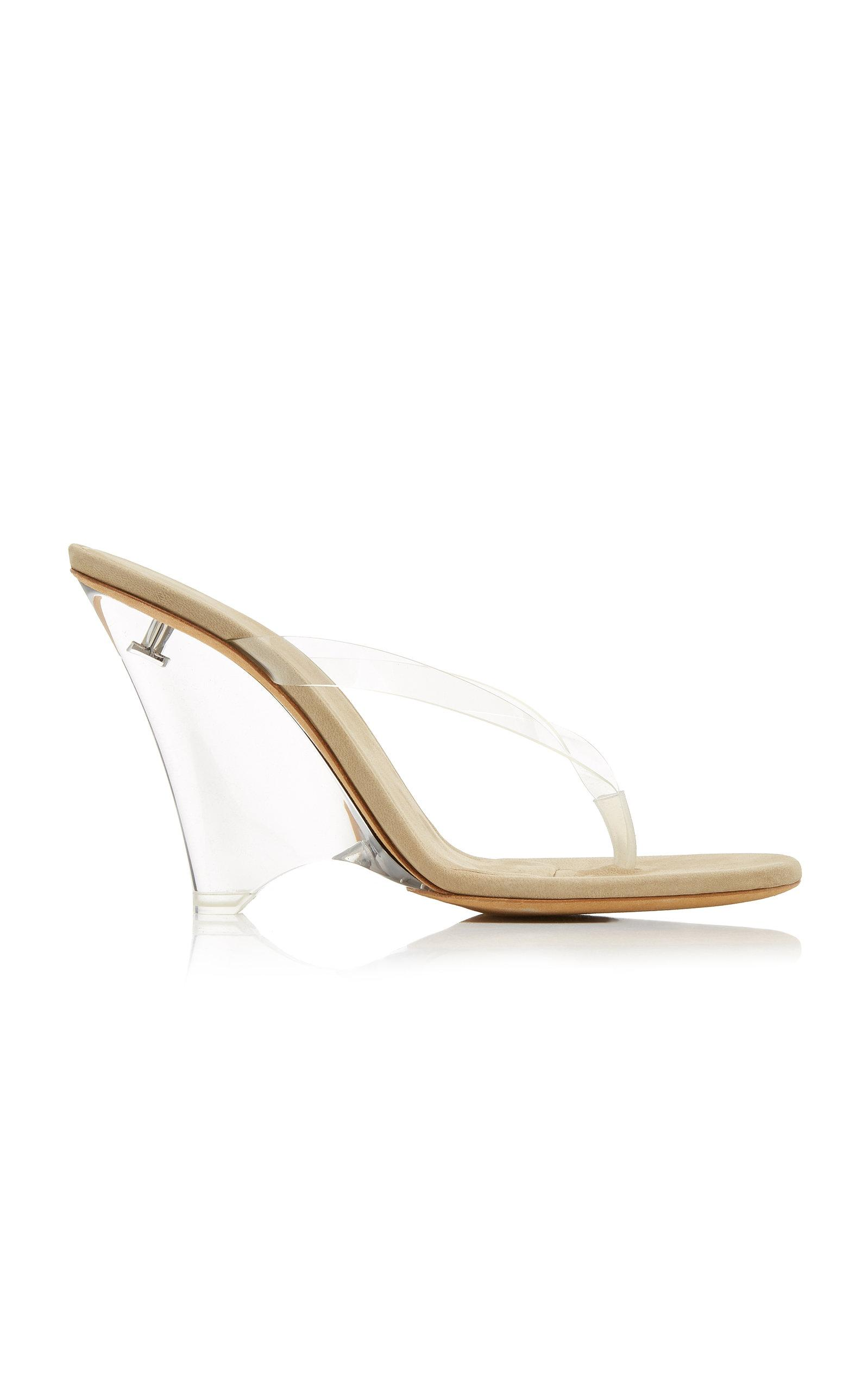 fd6301fc0 Lyst - Yeezy Pvc Wedge Sandals in White