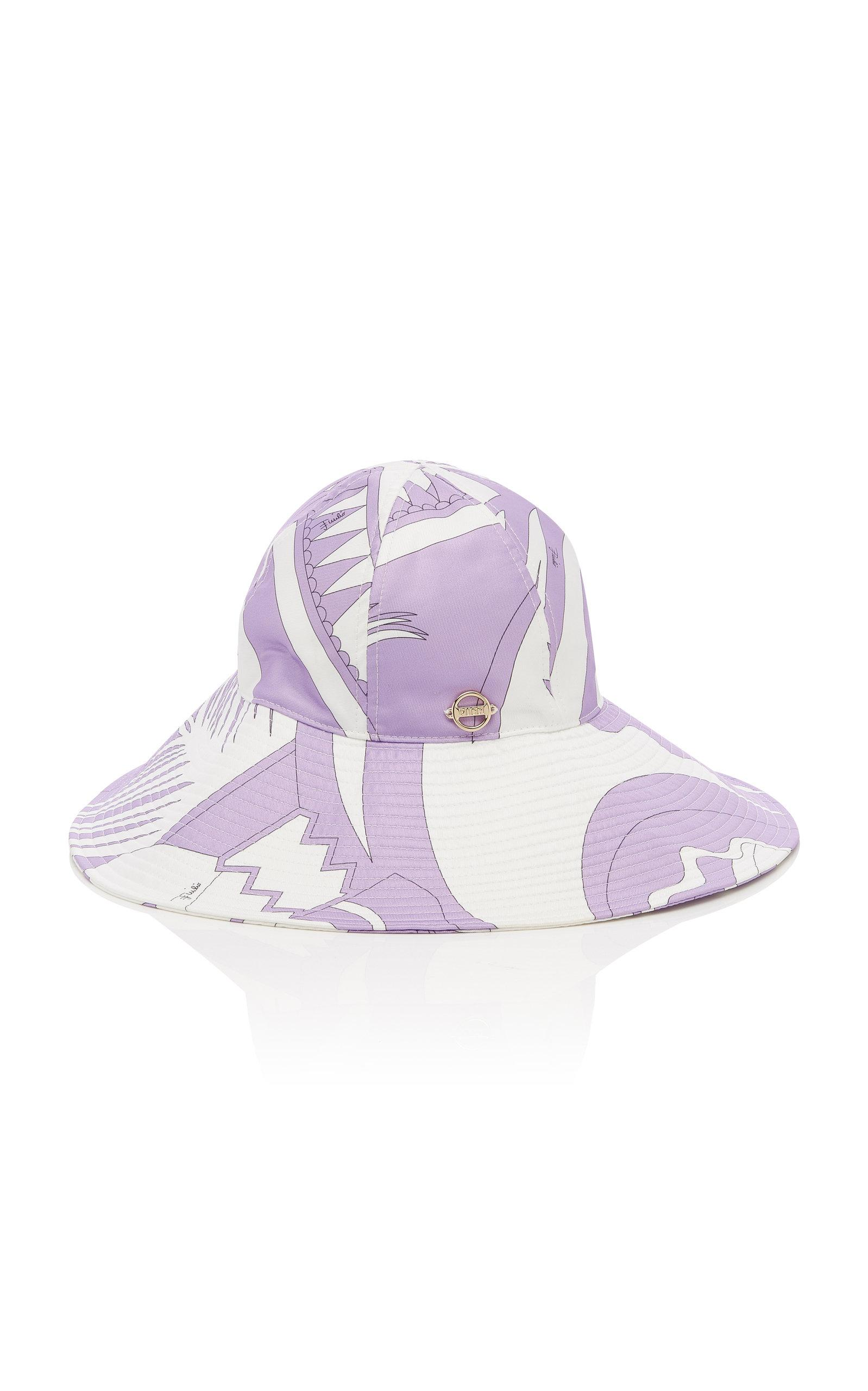 052552a6990eb Emilio Pucci - Purple Printed Wide-brimmed Bucket Hat - Lyst. View  fullscreen