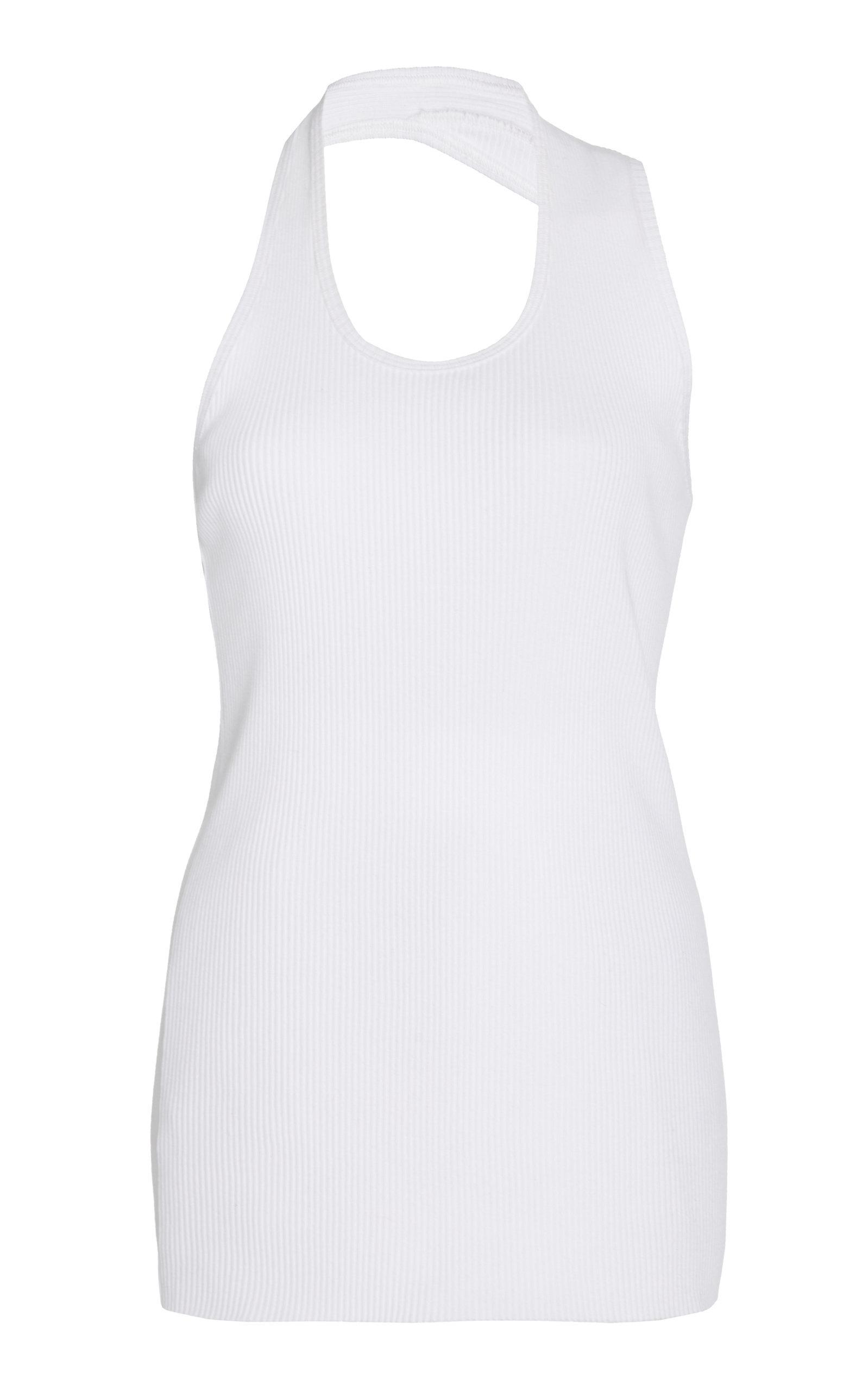 42314b53 helmut-lang-white-Asymmetric-Cotton-rib-Tank.jpeg