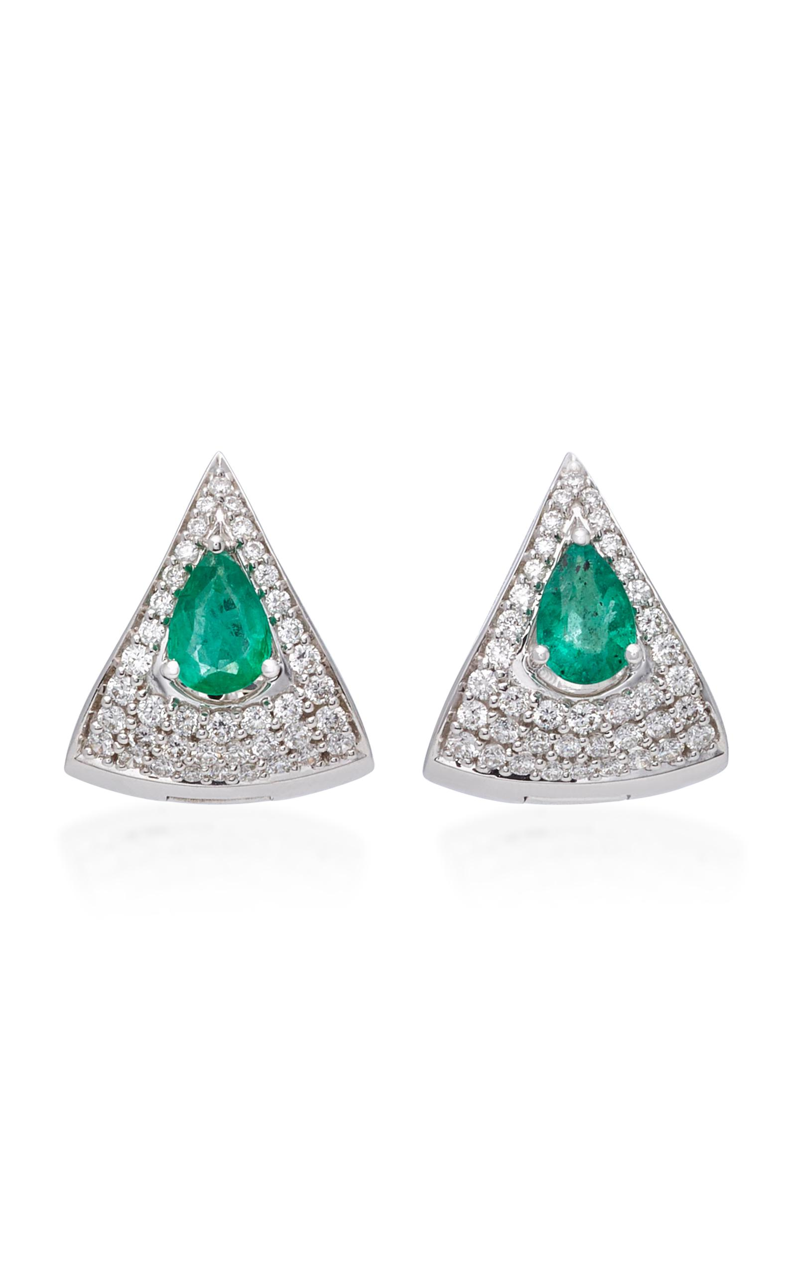 jewellery emerald oval gold earrings diamond white borsheims