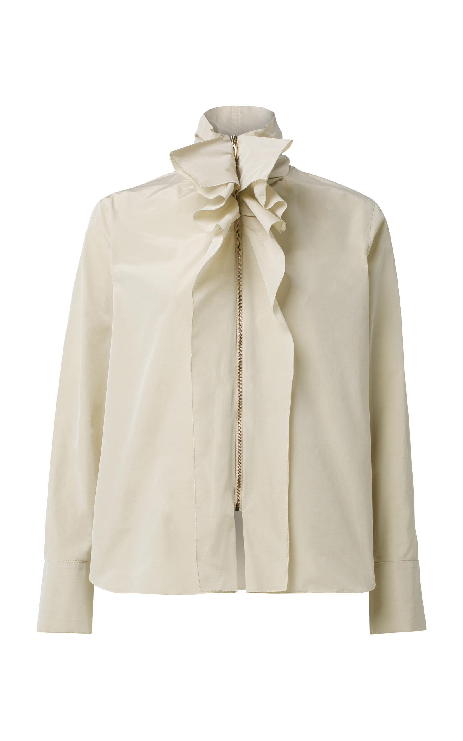 Revolution Blouse Schumacher Dorothee Lyst White Ruffle Taffeta In TO1IInqwEB