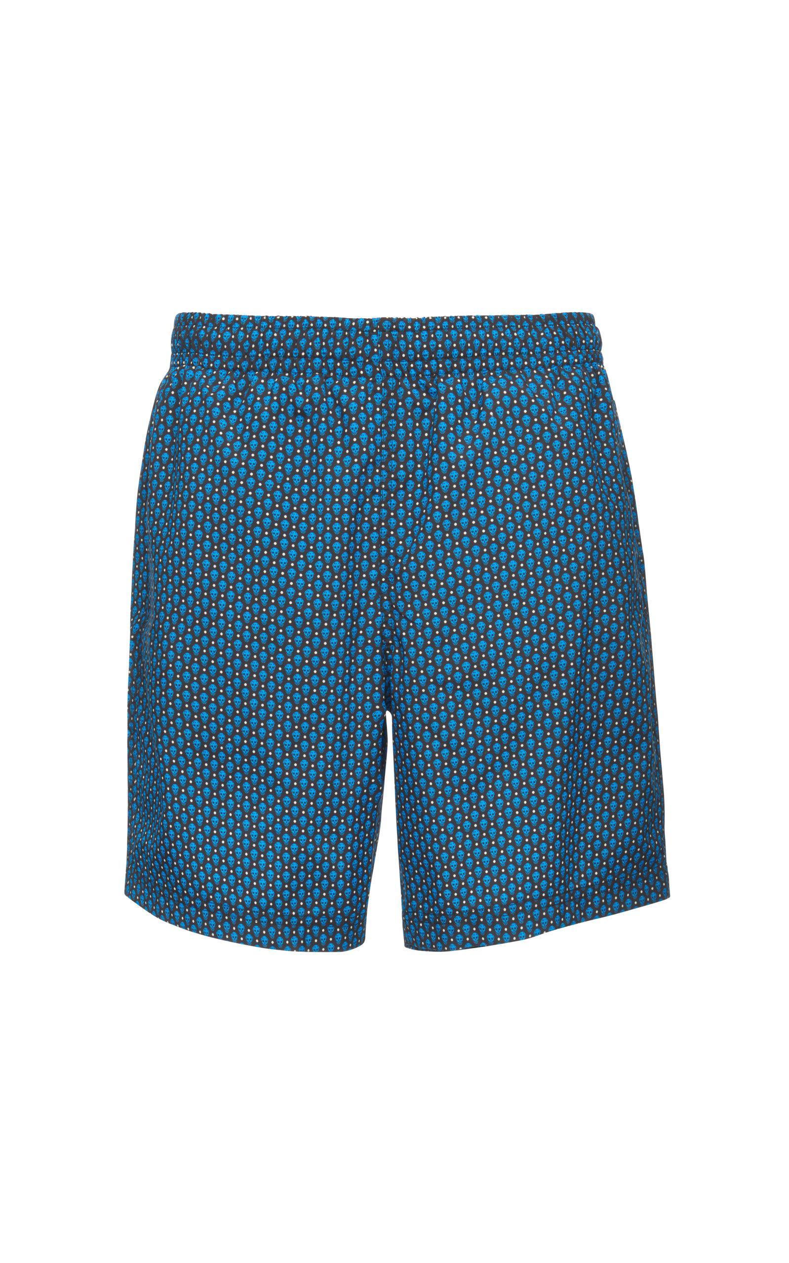 3bca383550 Lyst - Alexander McQueen Skull-print Swim Shorts in Blue for Men