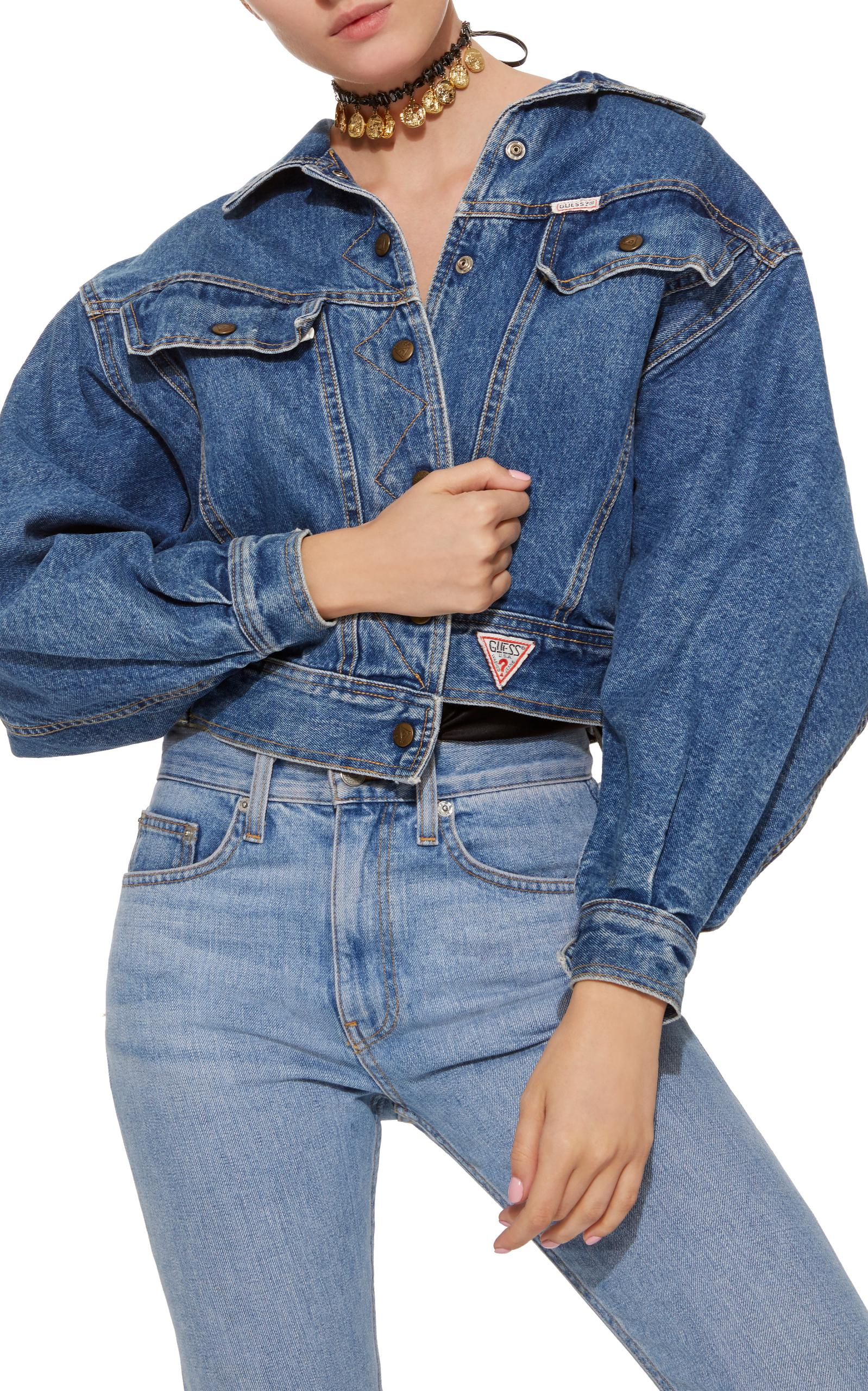 Lyst Fallon Vintage Guess Relaxed Denim Jacket In Blue