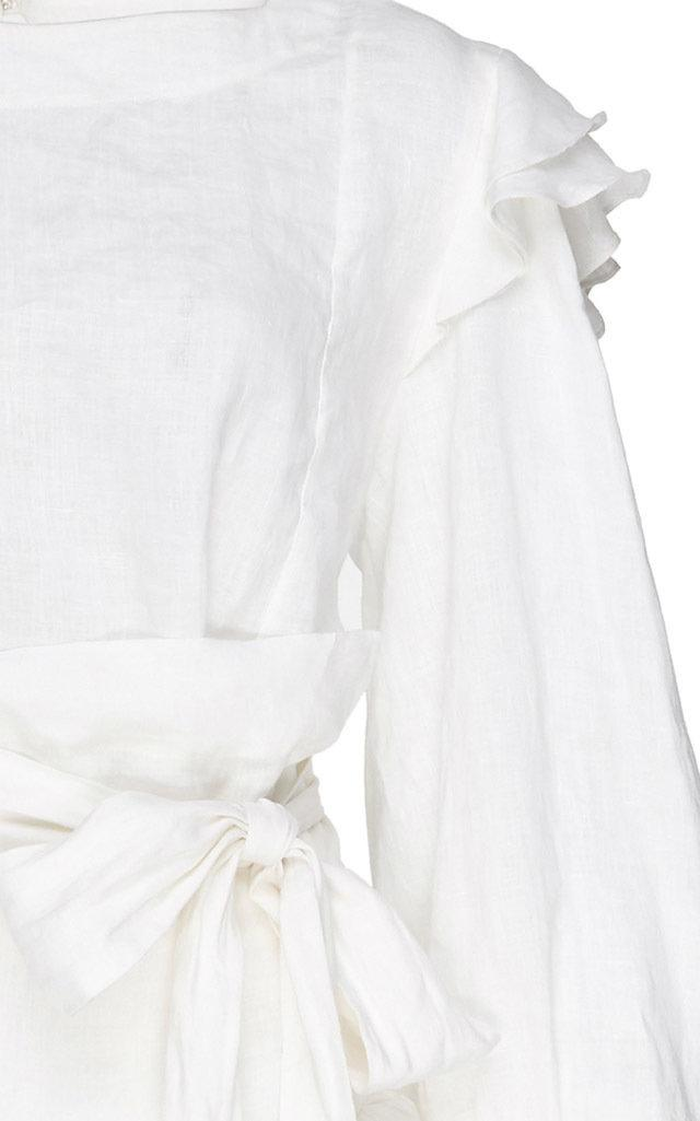 27a3caedf3 Lyst - Étoile Isabel Marant Telicia Printed Linen Dress in White