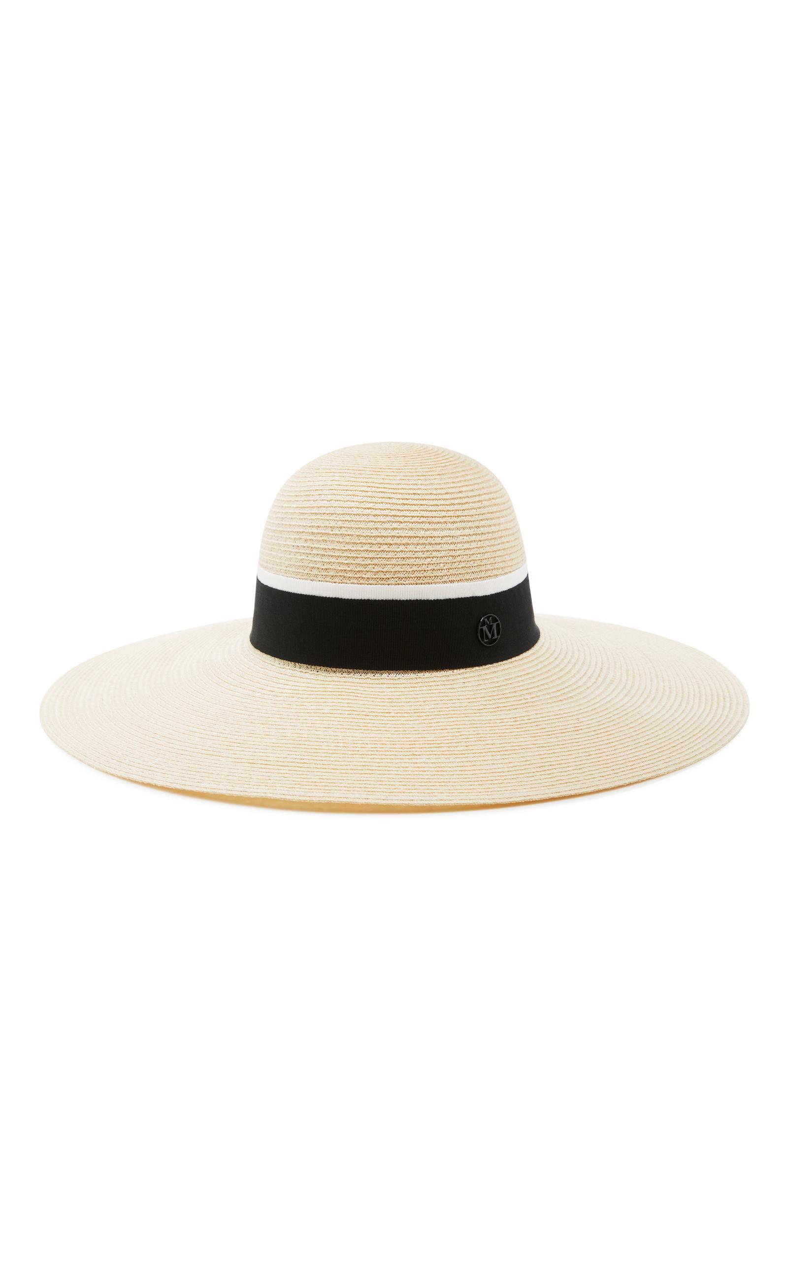 Canapa straw hat - Blue Maison Michel WDwHKM1