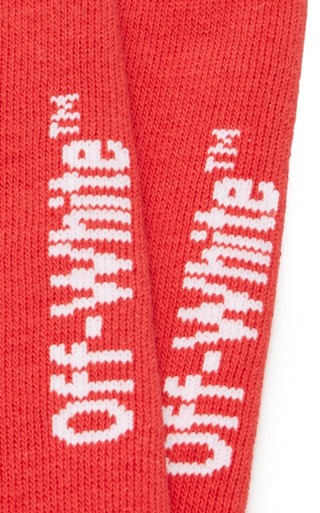 d68030a6d7f8 Off-White c o Virgil Abloh - Red Quote Cotton-blend Socks for. View  fullscreen