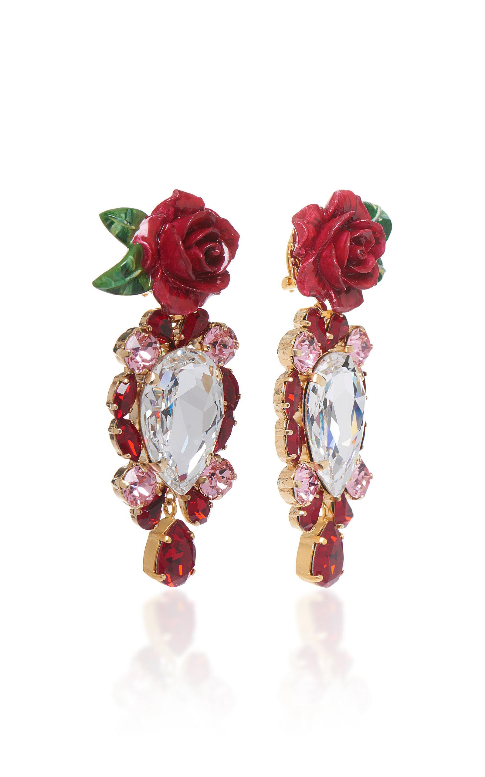 Rosetto Silver-Tone Brass and Crystal Earrings Dolce & Gabbana R8eprjbLS