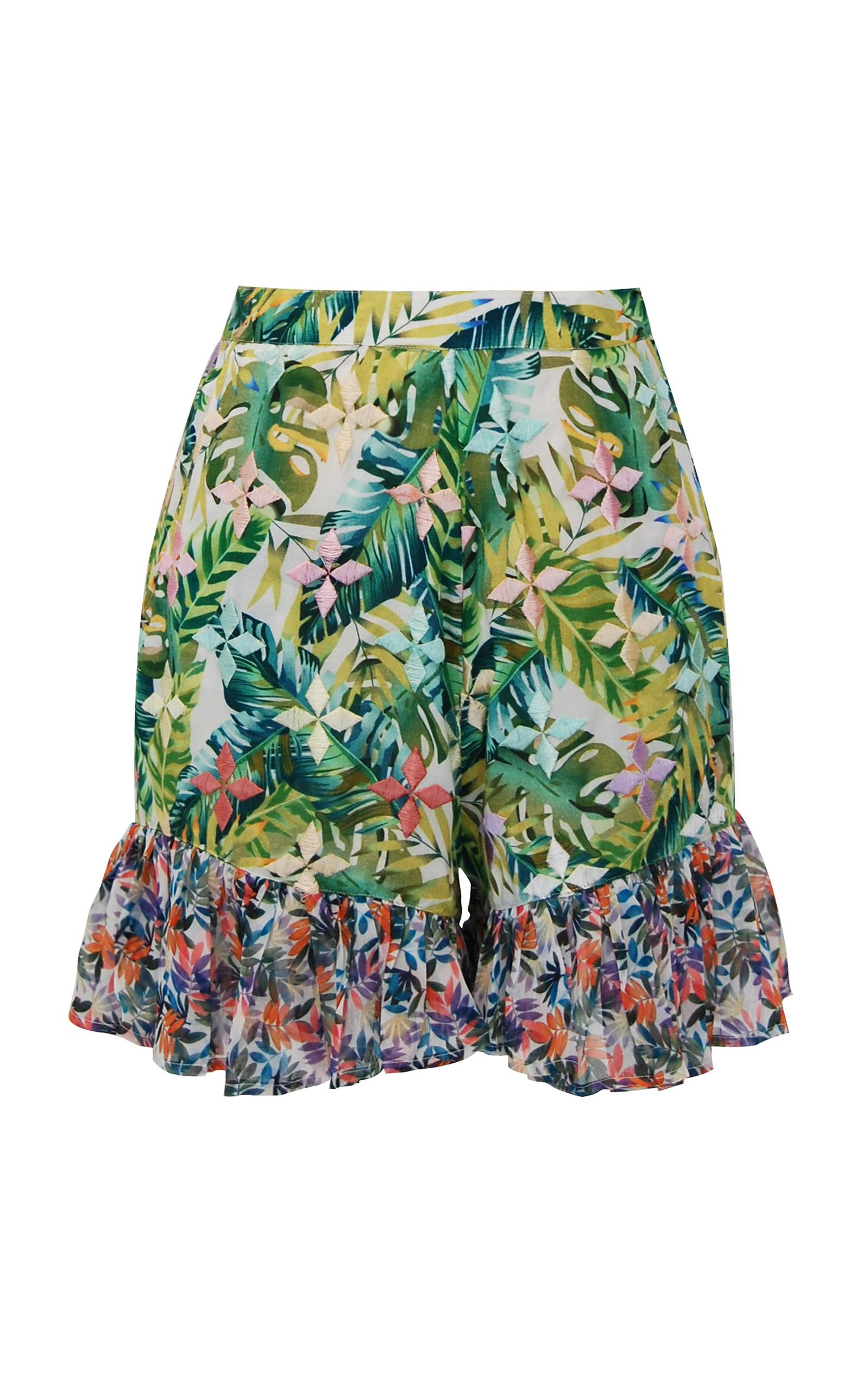 baila tropical print ruffle shorts - Green All Things Mochi Wide Range Of Online Clearance Pictures bSplTm
