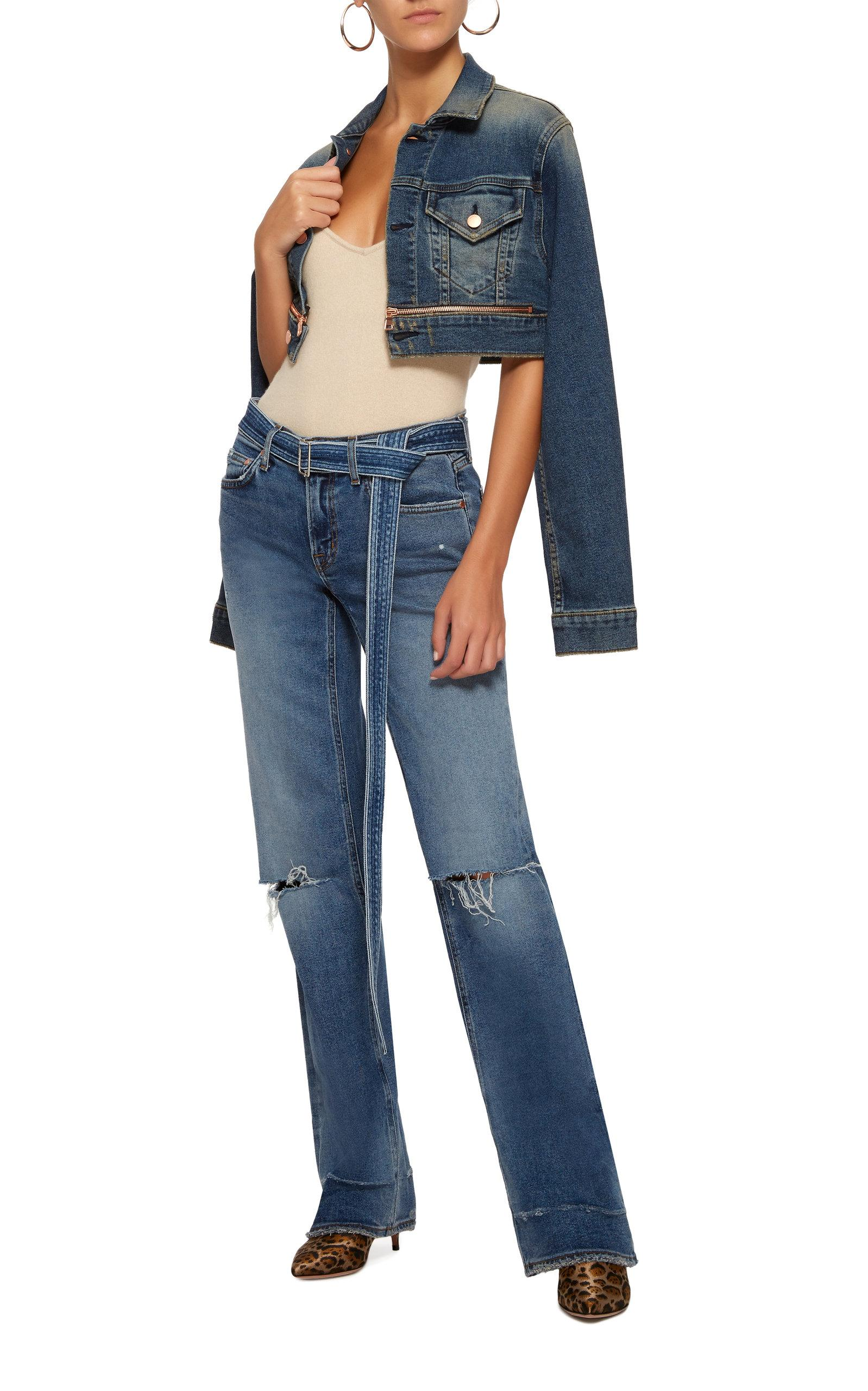 a25f9dc4880f51 Cotton Citizen - Blue Super Crop Denim Jacket - Lyst. View fullscreen