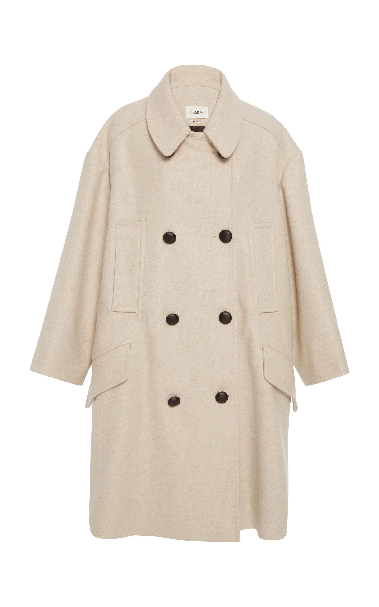 a9f12d08e6d3 Lyst - Étoile Isabel Marant Wool Blend Basket Weave Twill Coat in ...