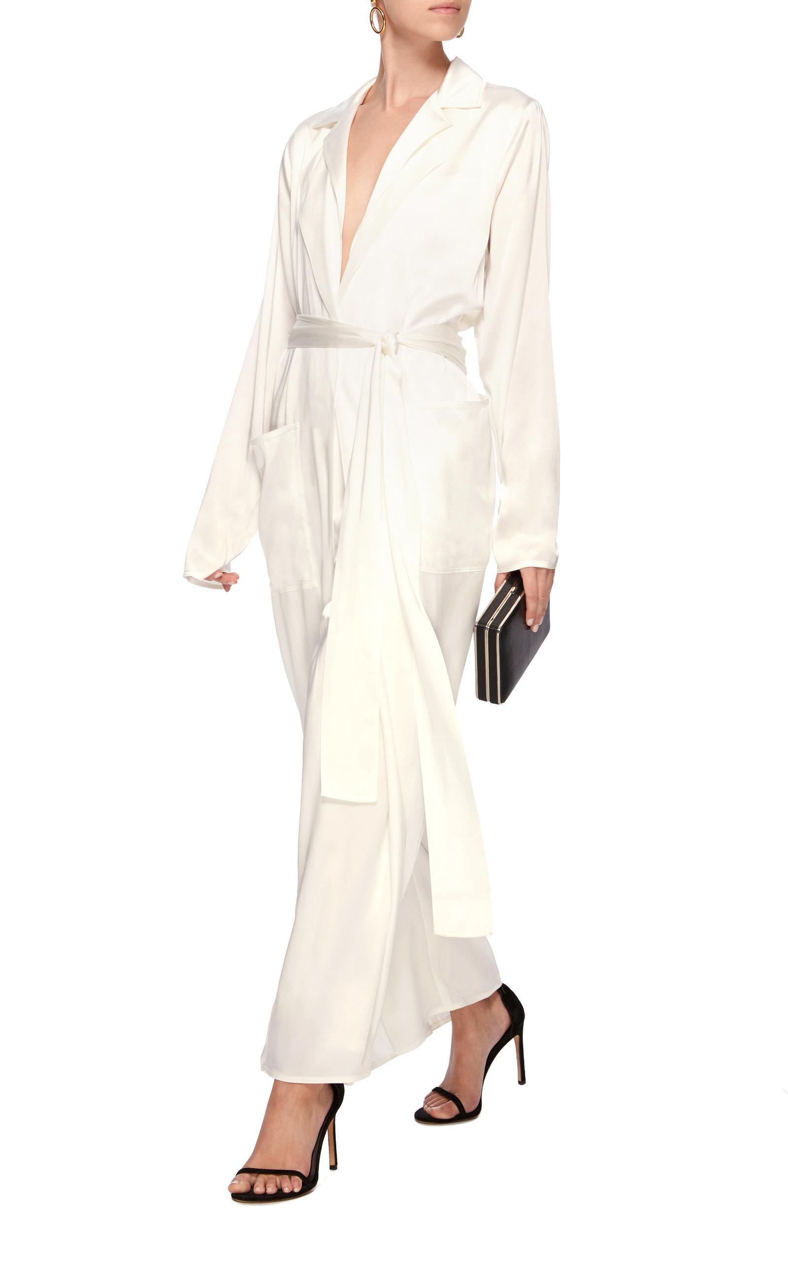 c99fa69cea8 Ralph Lauren - White O reilly Charmeuse Jumpsuit - Lyst. View fullscreen