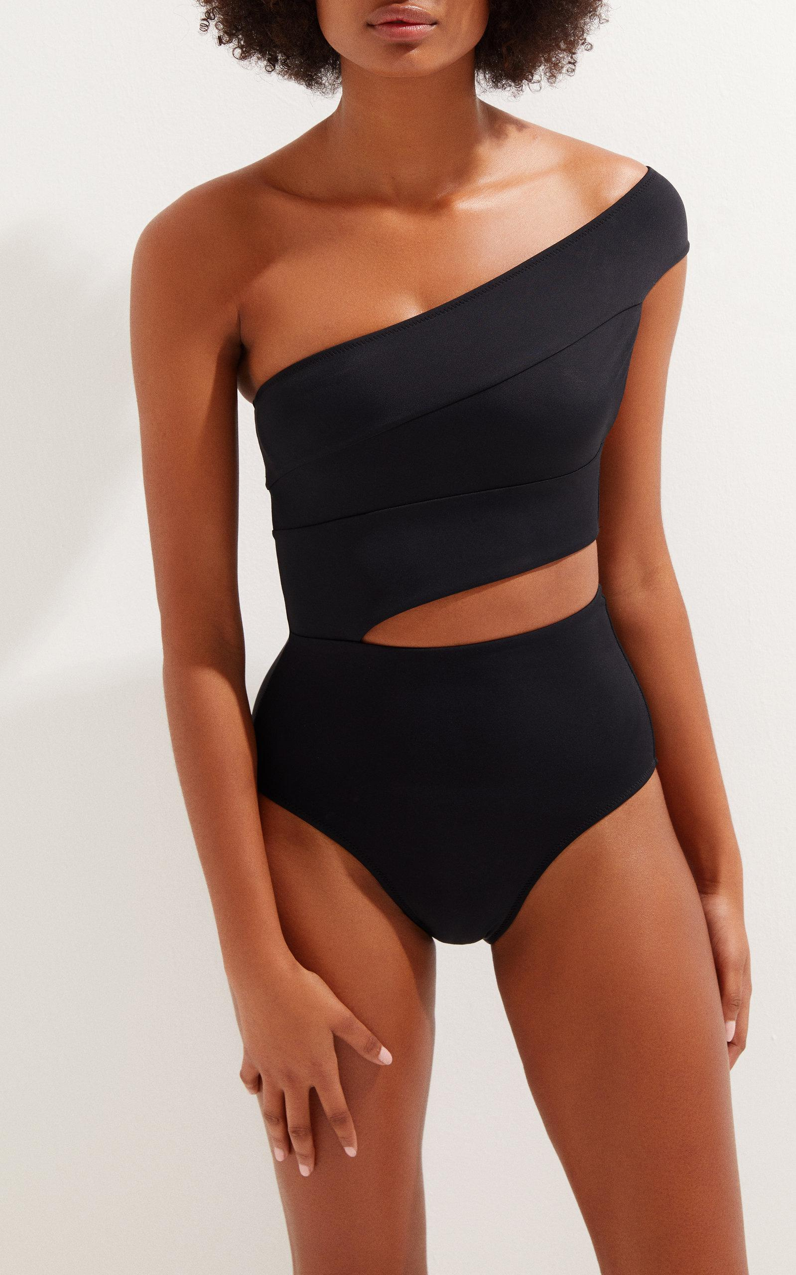 0045e3709e Lyst - OYE Swimwear Veronique One Shoulder Suit in Black