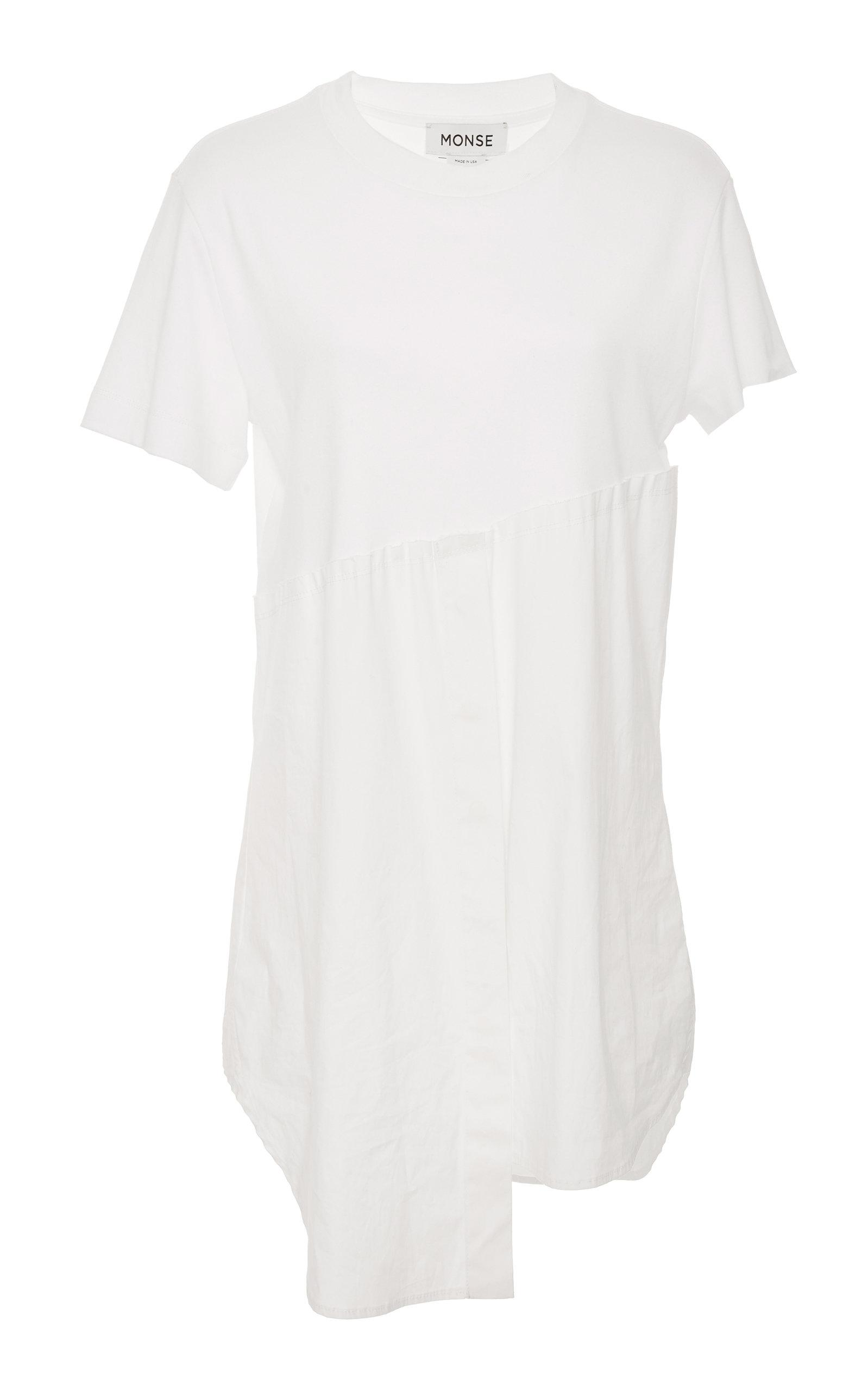 Lyst Monse Torn Shirt Tail In White